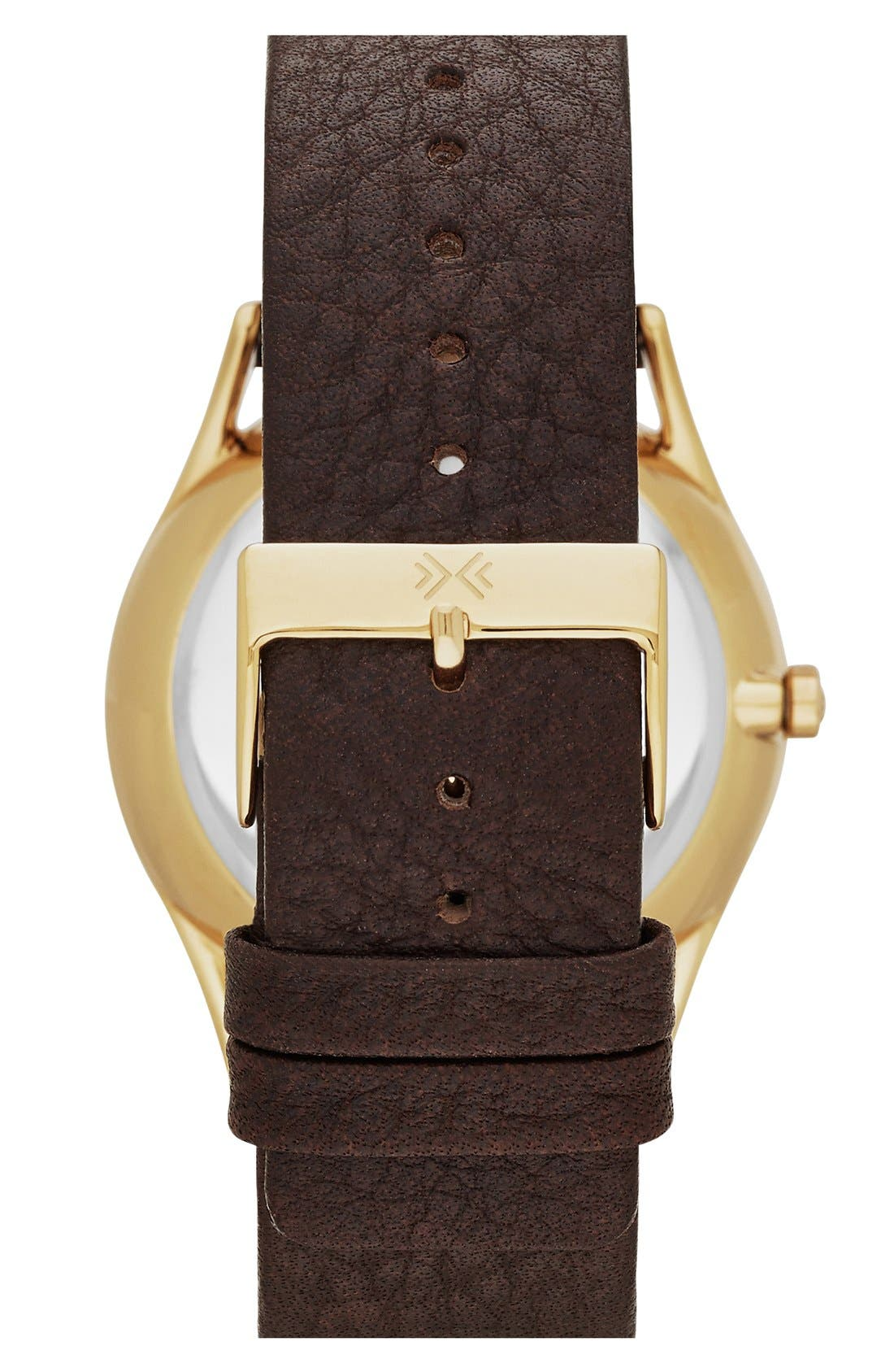 Alternate Image 2  - Skagen 'Holst' Multifunction Leather Strap Watch, 40mm