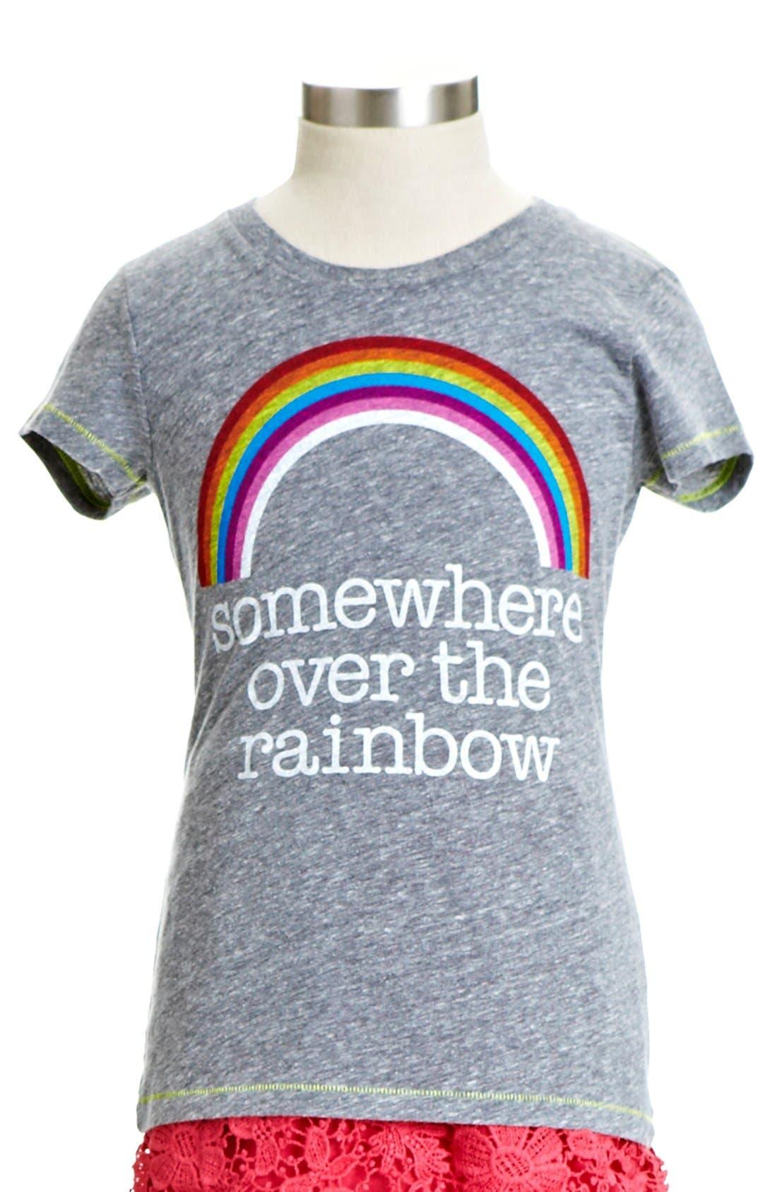 Alternate Image 1 Selected - Peek 'Over The Rainbow' Tee (Toddler Girls, Little Girls & Big Girls)