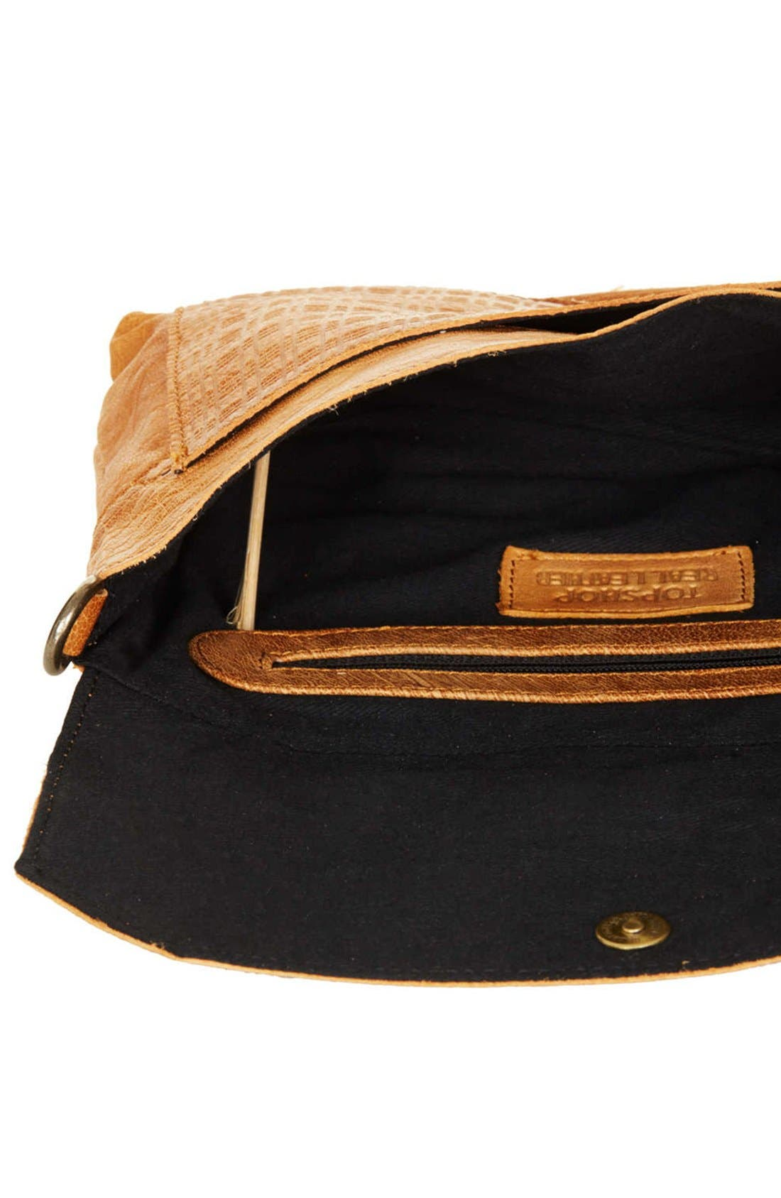 Alternate Image 3  - Topshop Textured Leather Crossbody Bag
