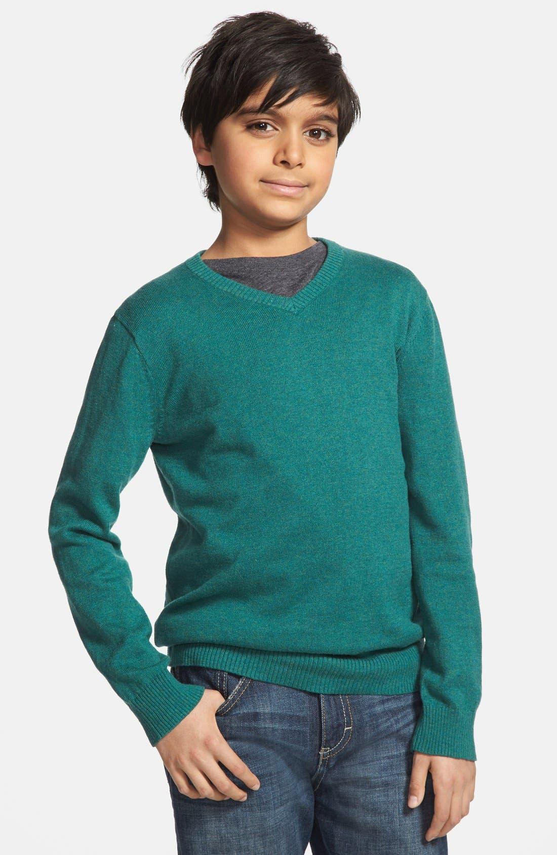 Alternate Image 1 Selected - Tucker + Tate 'Atticus' Cotton & Cashmere Sweater (Big Boys)