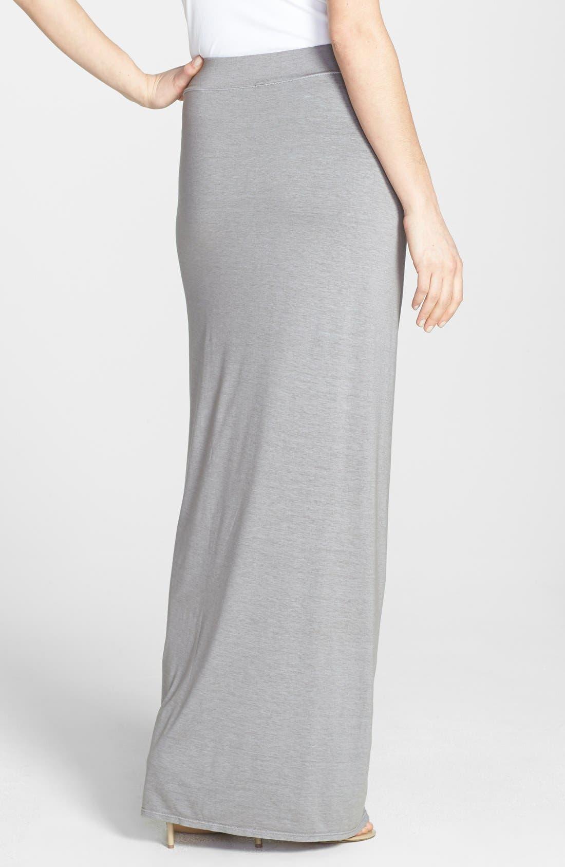 Alternate Image 2  - Three Dots Drape Front Maxi Skirt