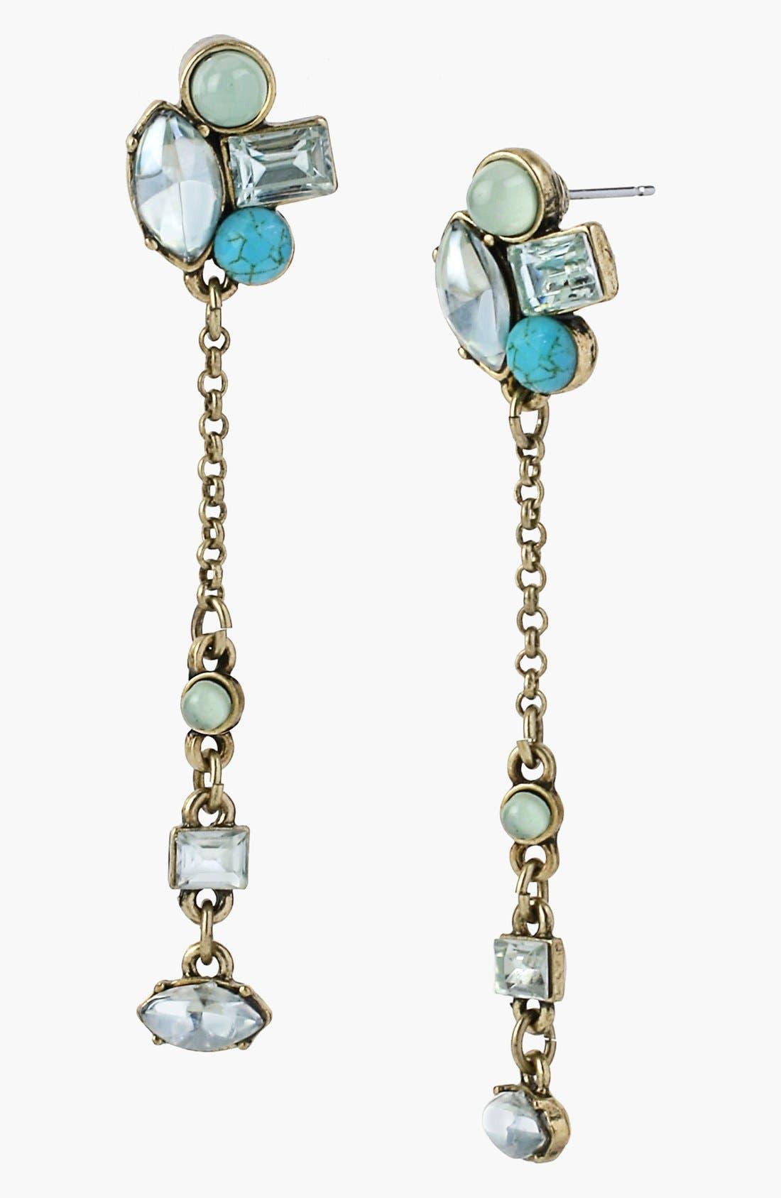 Main Image - Betsey Johnson 'Mint Multi' Linear Earrings