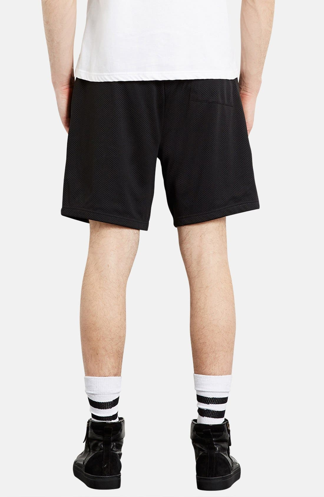 Alternate Image 2  - Topman Trim Fit Mesh Shorts