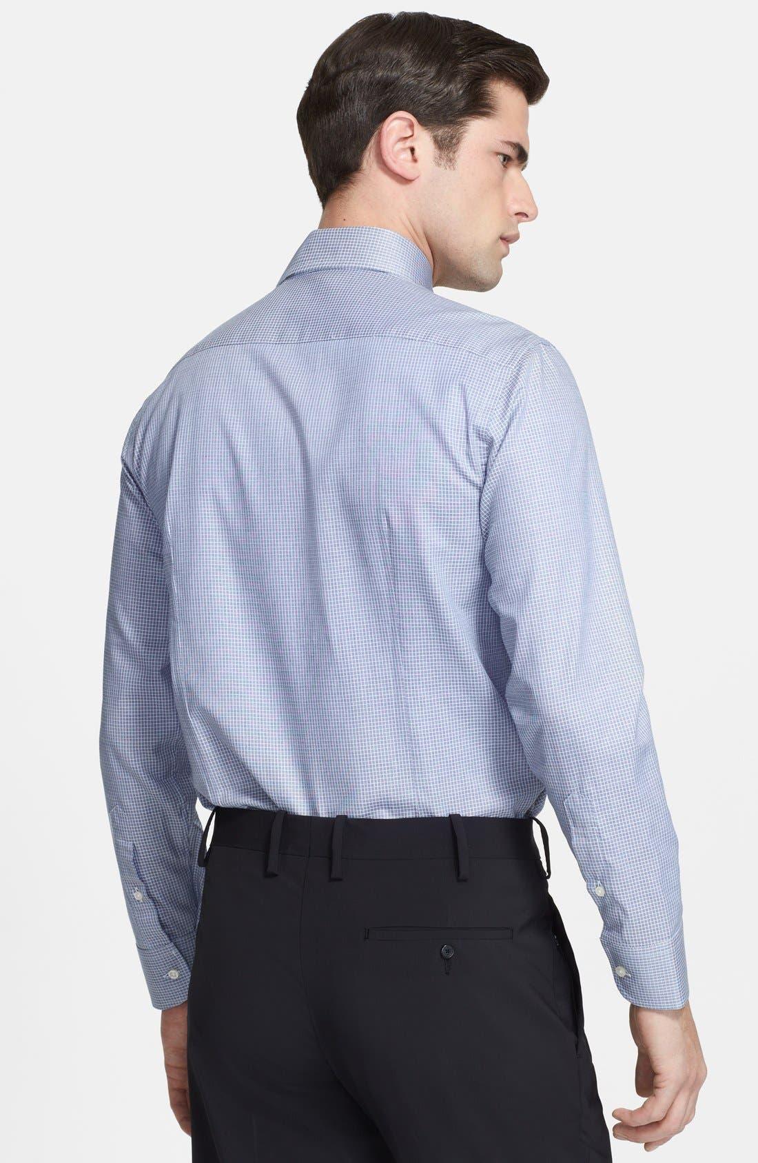 Alternate Image 2  - Armani Collezioni Slim Fit Check Grid Dress Shirt