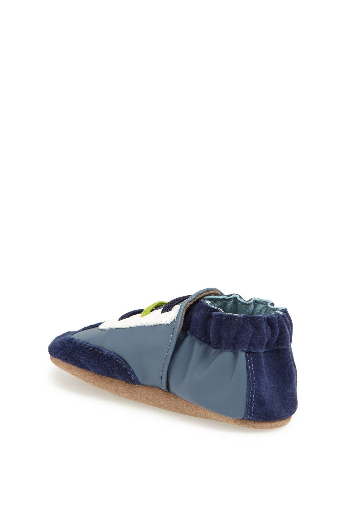 Alternate Image 2  - Robeez® 'All Star Rodney' Crib Shoe (Baby & Walker)