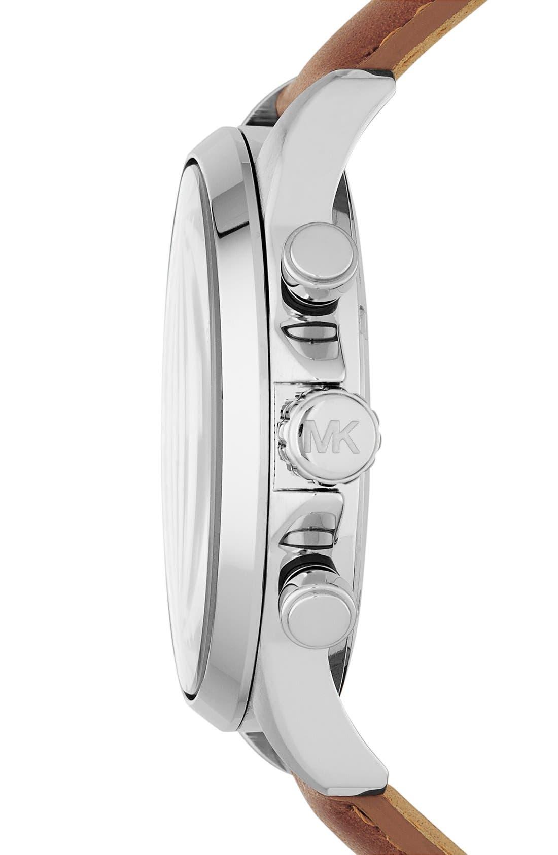 Alternate Image 2  - Michael Kors 'Gage' Chronograph Leather Strap Watch, 45mm