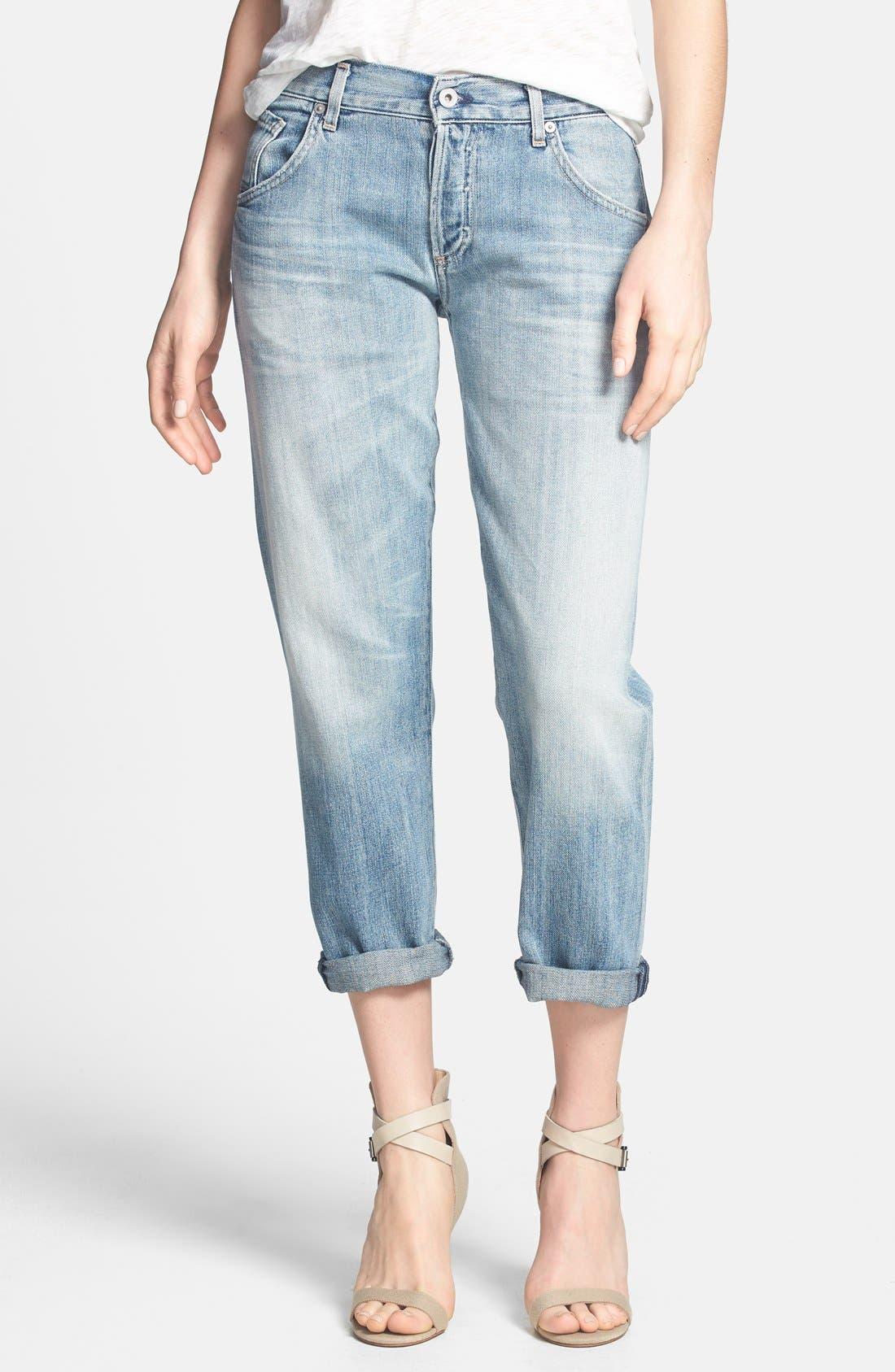 Alternate Image 1 Selected - Citizens of Humanity 'Premium Vintage - Skyler' Boyfriend Crop Jeans (Archive)