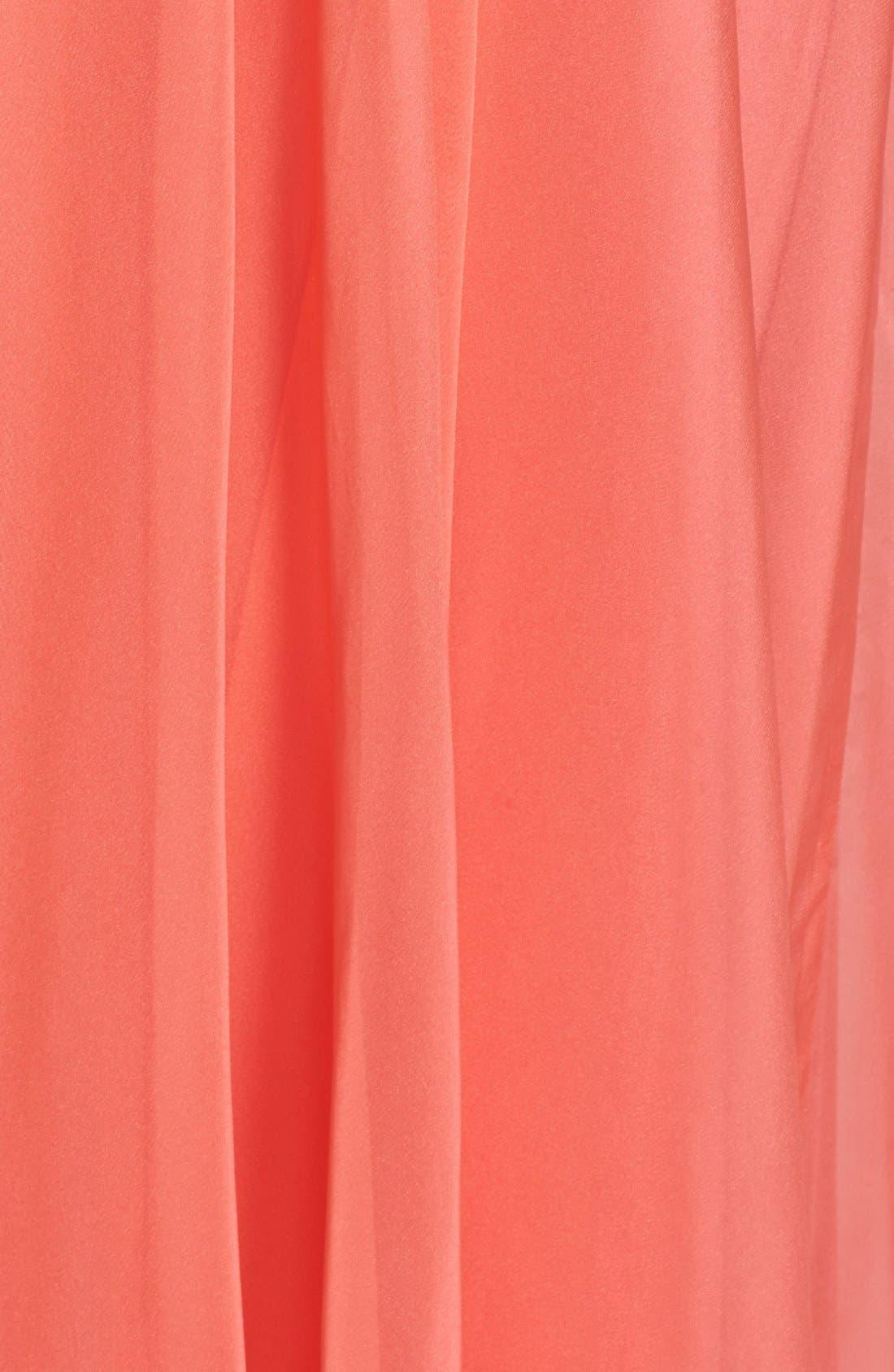 Alternate Image 3  - La Femme Embellished Chiffon Gown