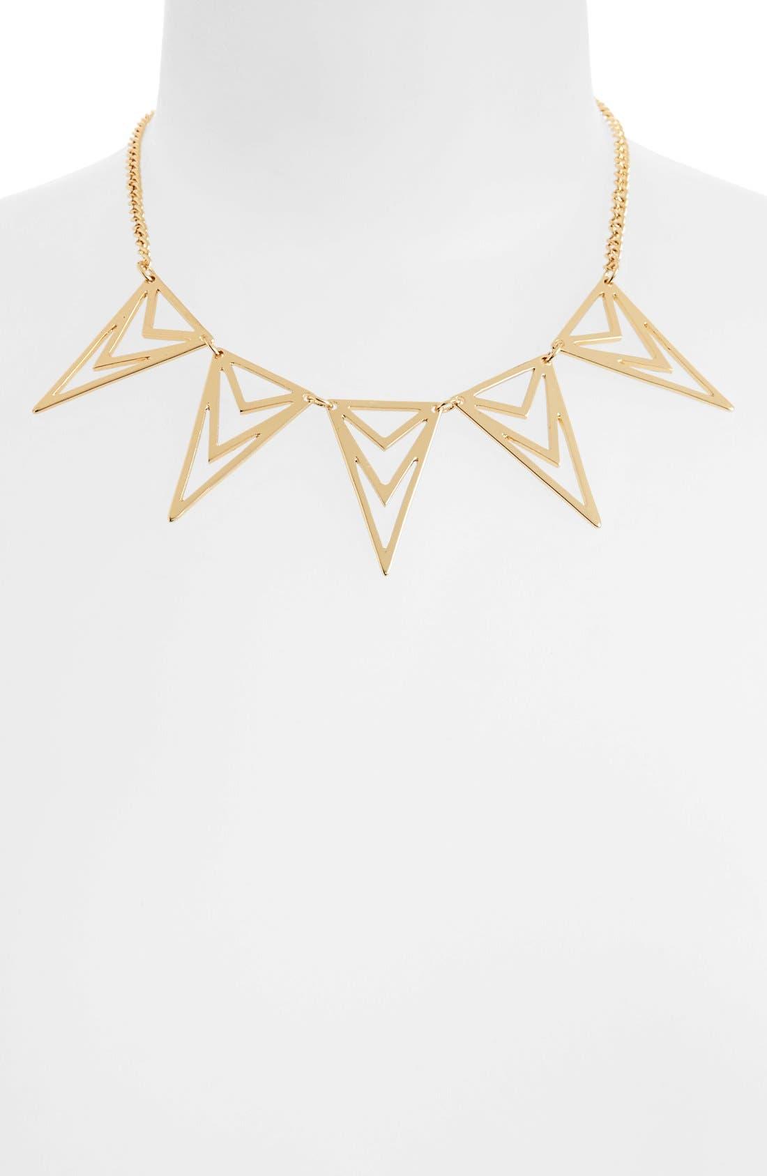 Alternate Image 1 Selected - Topshop Cutout Geometric Necklace