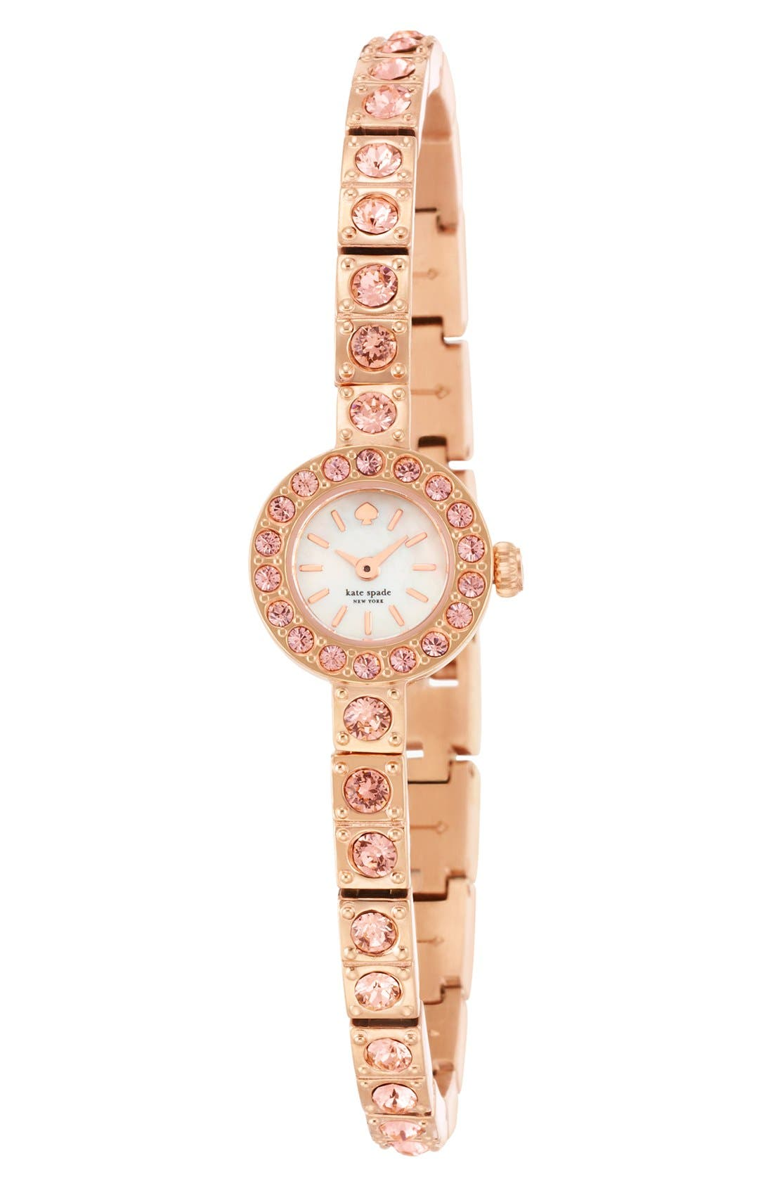 Alternate Image 3  - kate spade new york 'pierre' pavé bracelet watch, 10mm