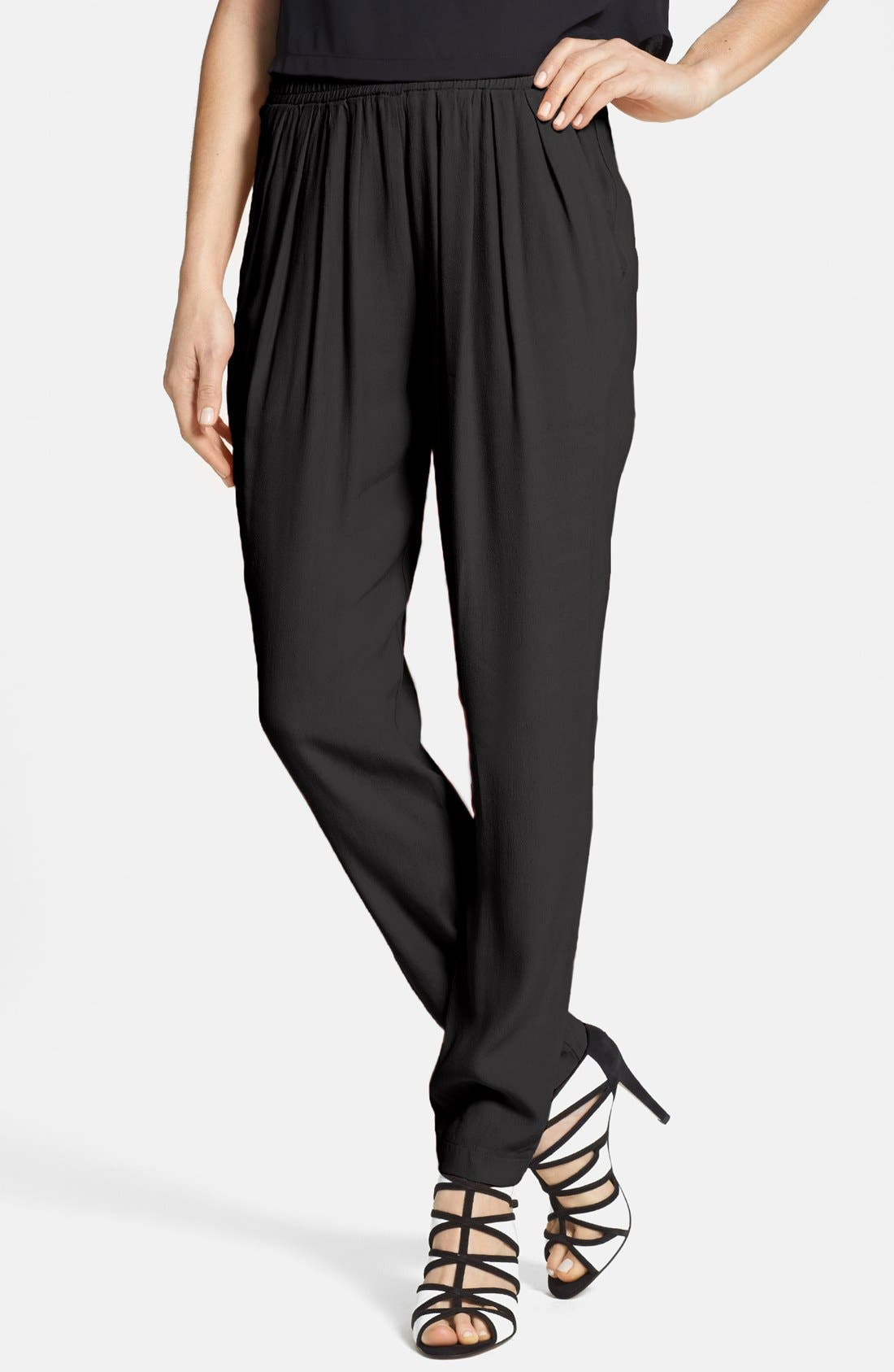 Alternate Image 1 Selected - Wayf Front Pleat Crepe Track Pants