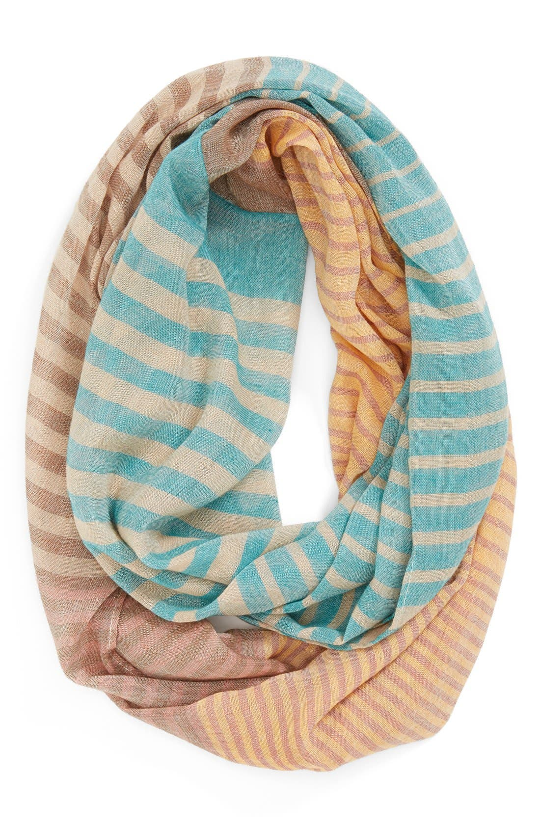 Alternate Image 1 Selected - Evelyn K 'Mixed Stripe' Scarf