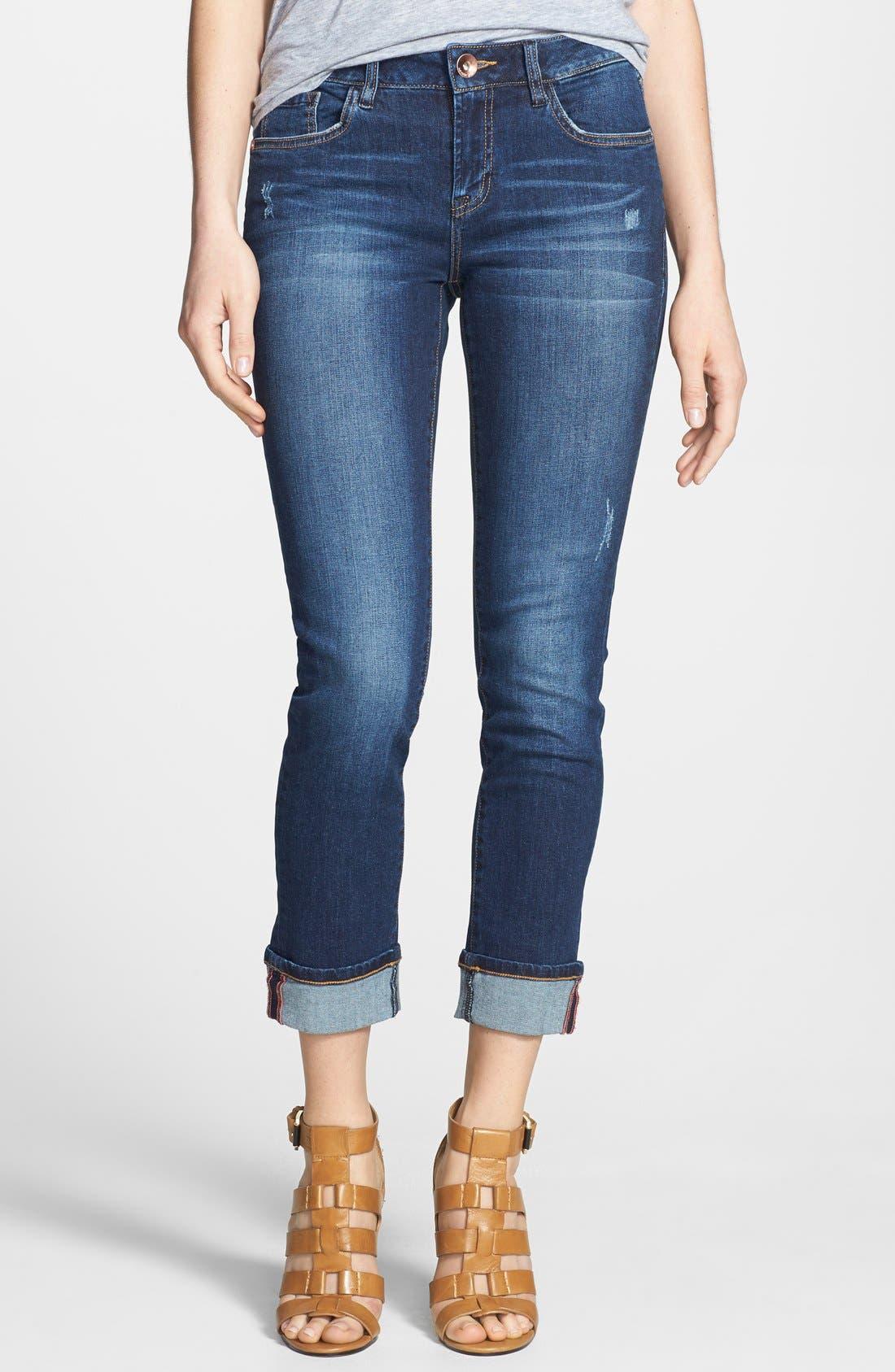 Alternate Image 1 Selected - kensie Classic Capri Jeans (Eternal Highway)