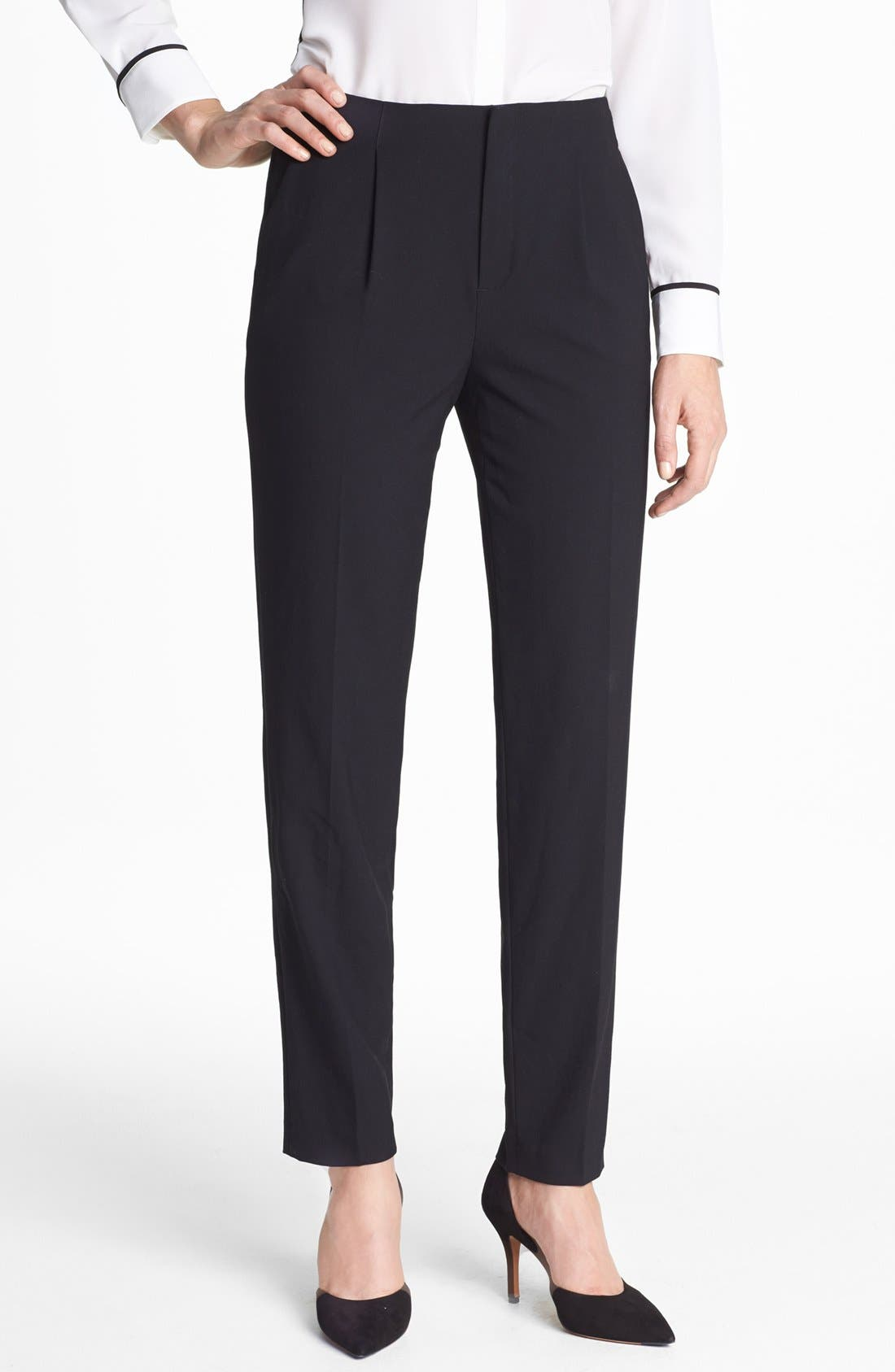 Main Image - Vince Camuto Pleated Pants (Petite)