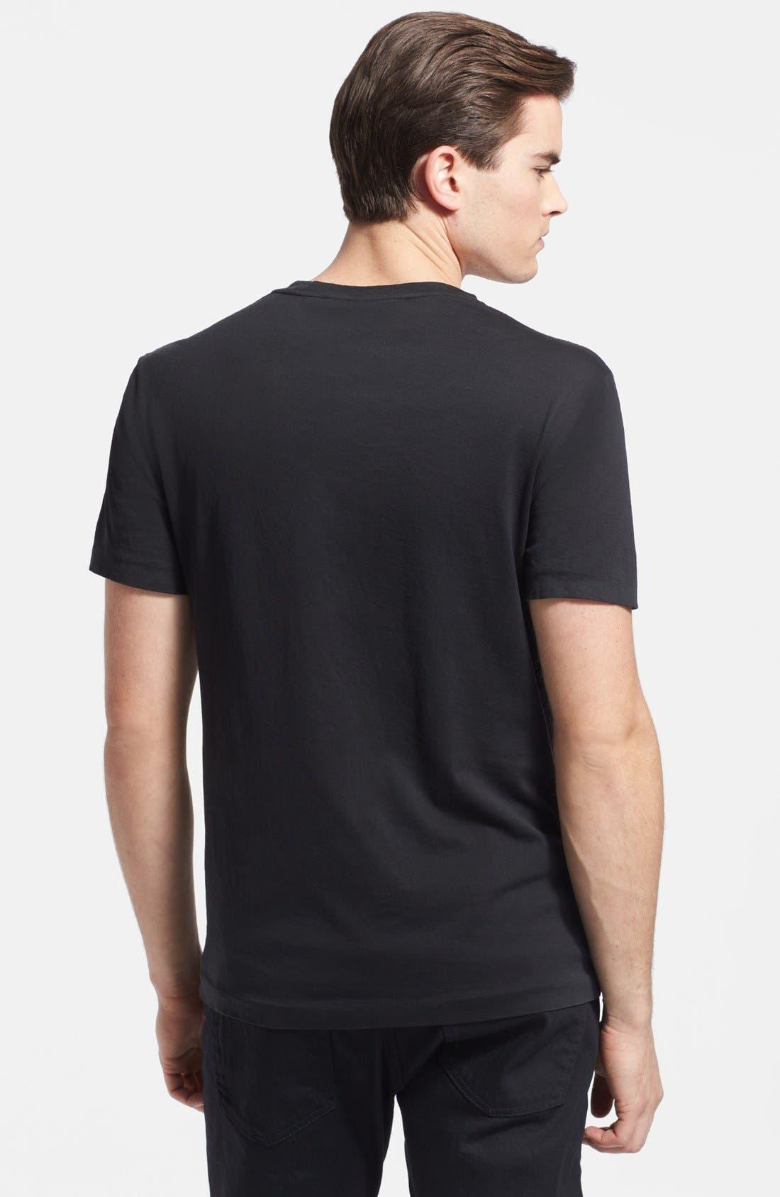 Alternate Image 2  - Ralph Lauren Black Label Pima Cotton Pocket Crewneck T-Shirt