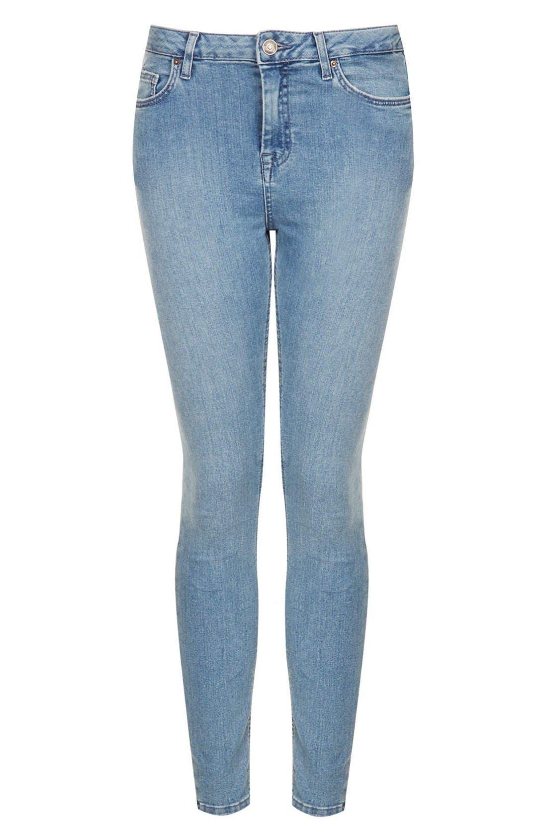 Alternate Image 3  - Topshop Moto 'Jamie' High Rise Skinny Jeans (Mid Stone)