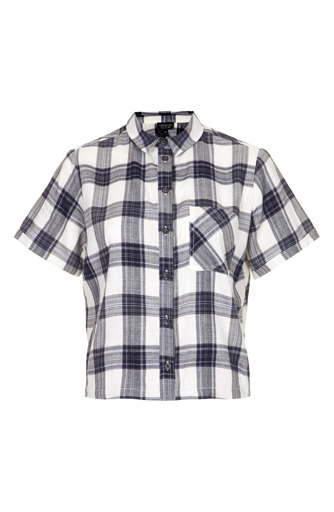 Alternate Image 3  - Topshop 'Emily' Check Print Cotton Shirt