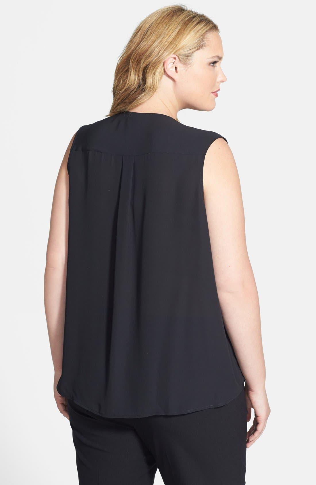 Alternate Image 2  - Halogen® Pocket Faux Wrap Top (Plus Size)