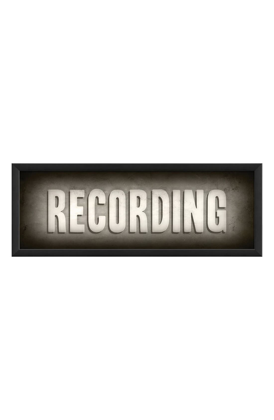 Alternate Image 1 Selected - Spicher and Company 'Recording' Vintage Look Theater Sign Artwork