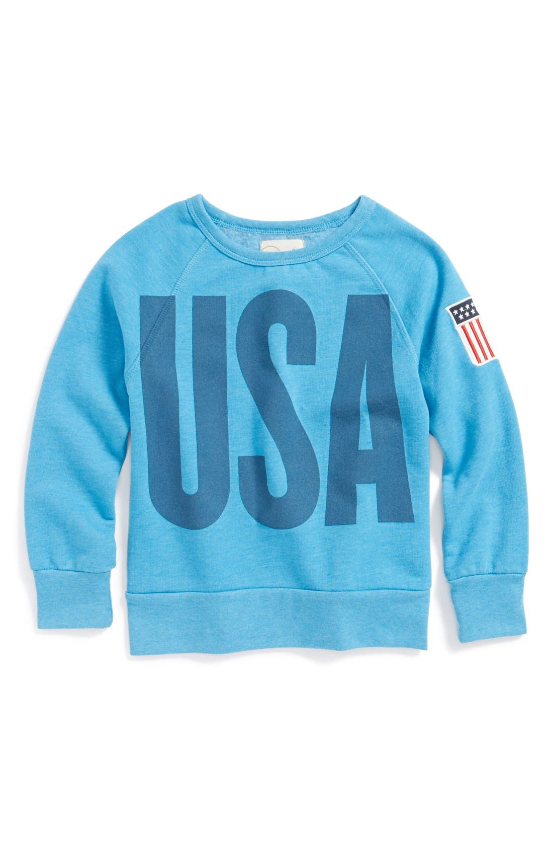 Main Image - Peek 'USA' Crewneck Sweatshirt (Toddler Girls, Little Girls & Big Girls)