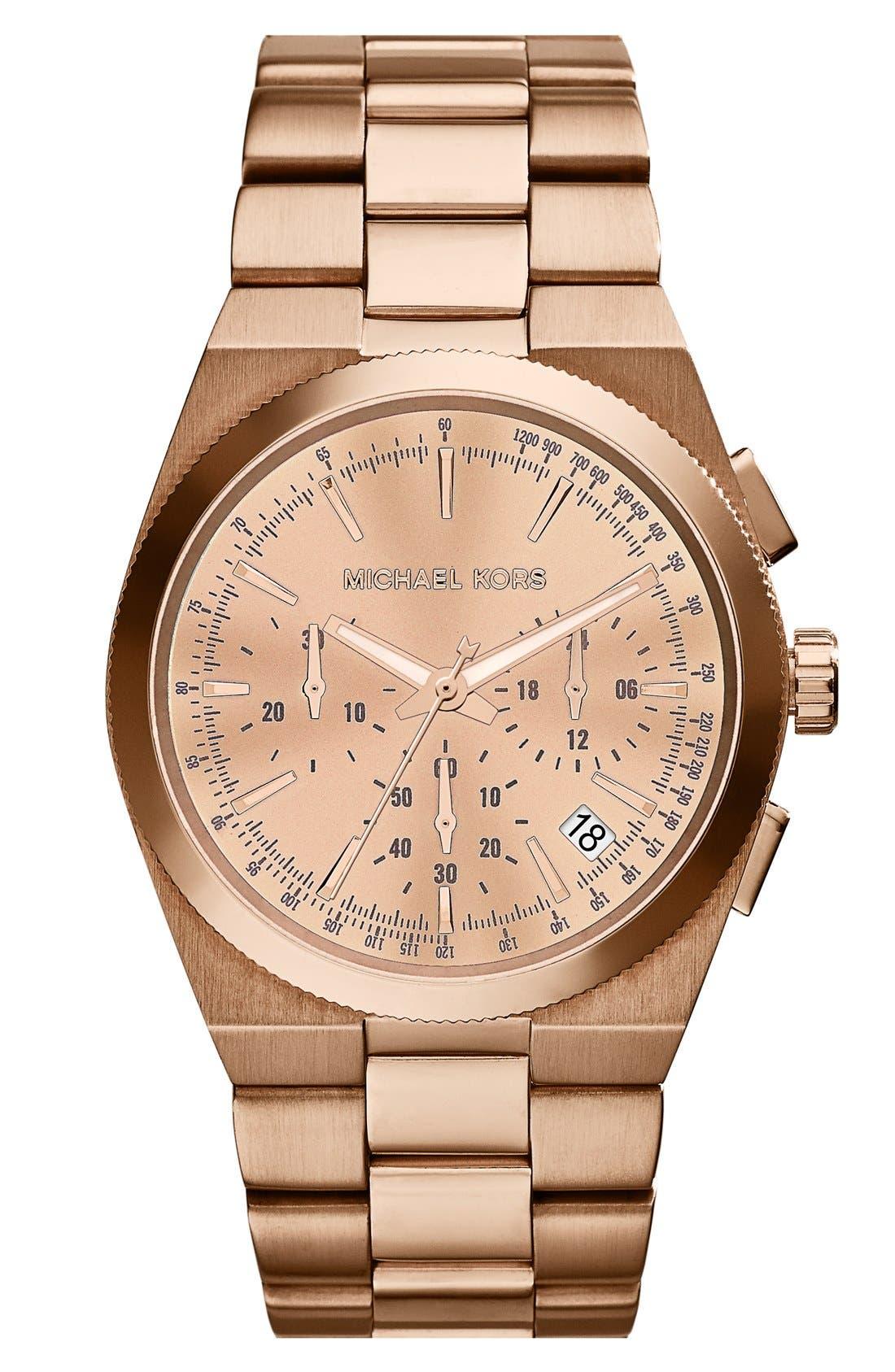 Alternate Image 1 Selected - Michael Kors 'Channing' Chronograph Bracelet Watch, 38mm