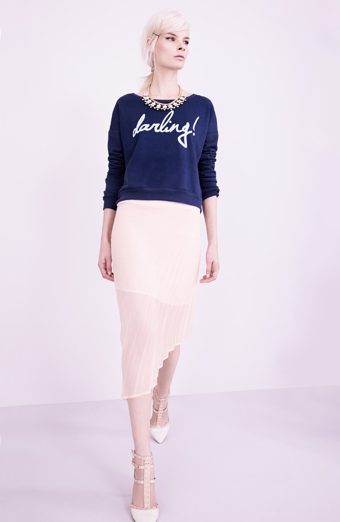 Alternate Image 4  - Madison & Berkeley 'Darling' Boatneck Knit Sweatshirt