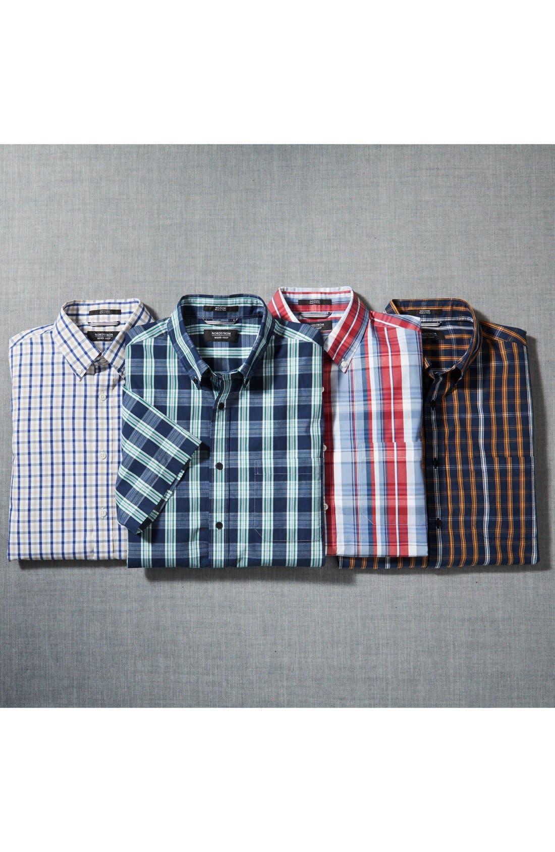 Alternate Image 4  - Nordstrom Regular Fit Short Sleeve Woven Sport Shirt