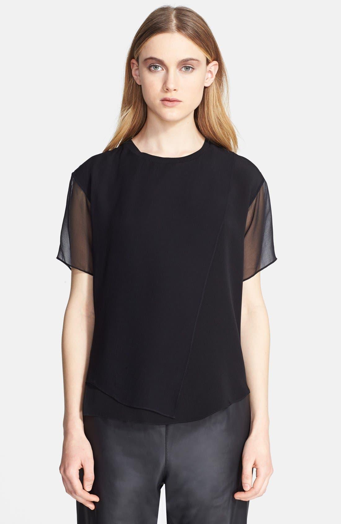 Main Image - Theyskens' Theory 'Baim' Layered Silk Top