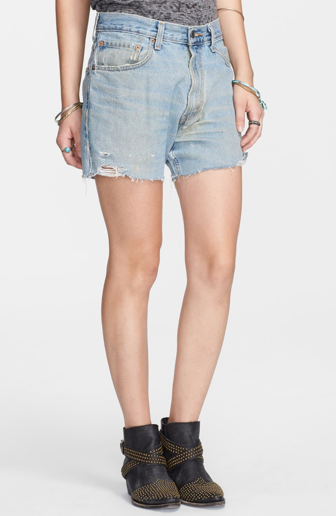 Main Image - Free People Boyfriend Cutoff Denim Shorts
