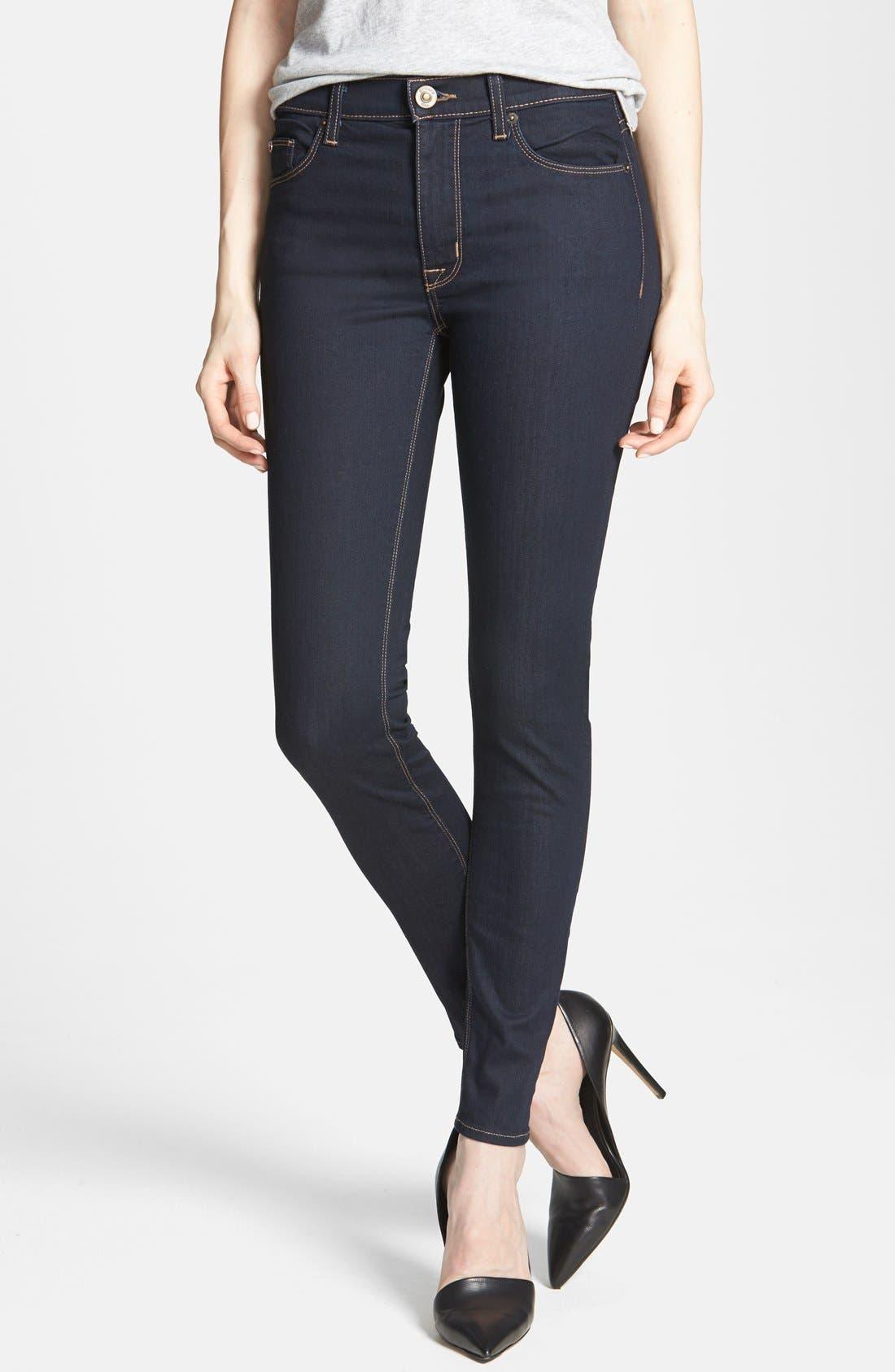 Main Image - Hudson Jeans 'Barbara' High Rise Skinny Jeans (Storm)
