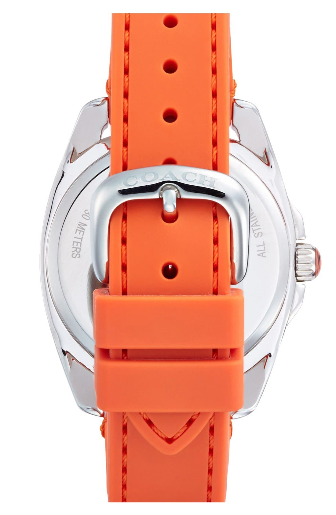 Alternate Image 2  - COACH 'Teagan' Plastic Bezel Silicone Strap Watch, 38mm