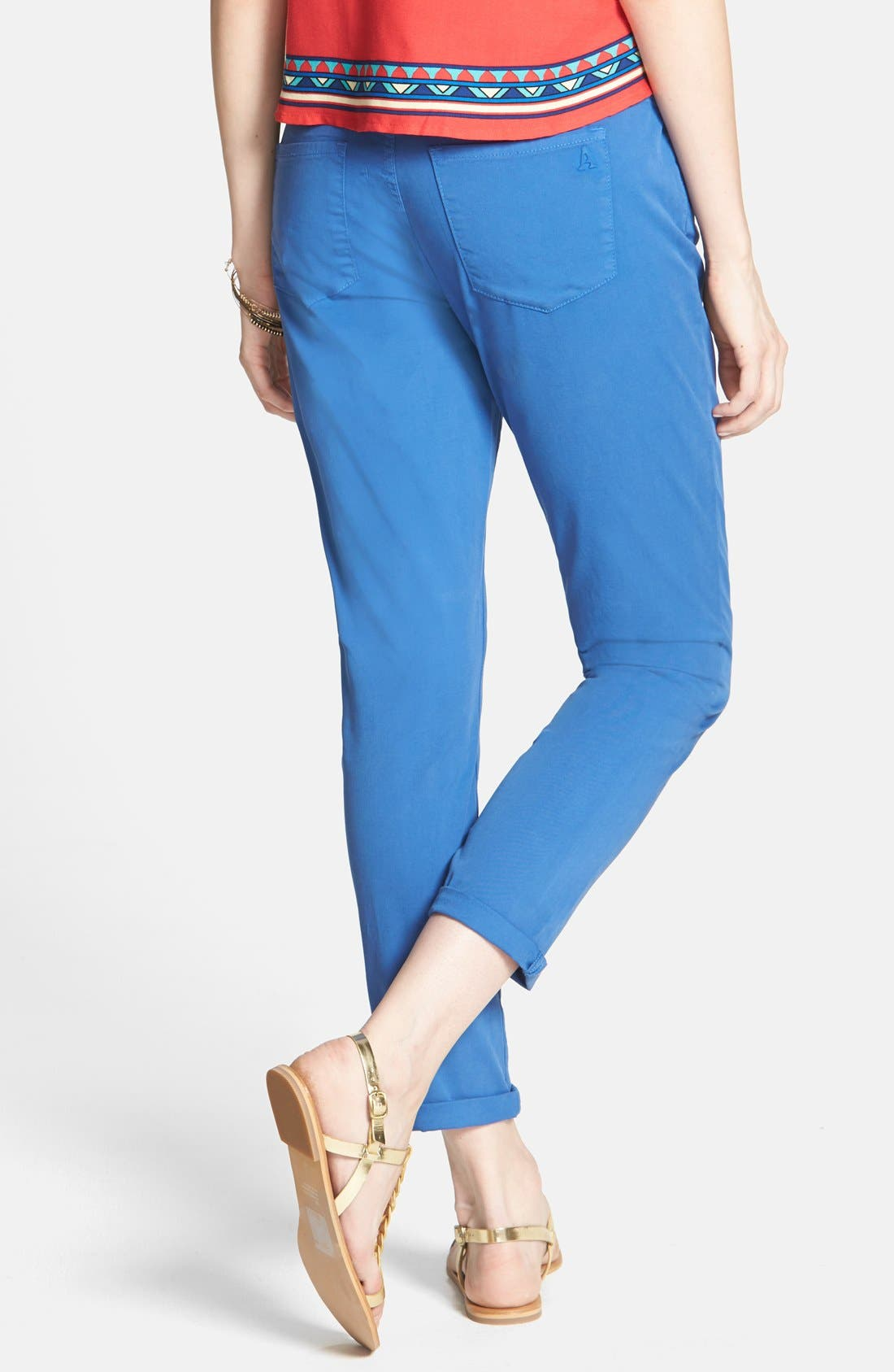 Alternate Image 2  - Articles of Society 'Cindy' Skinny Cotton Trousers (Juniors)