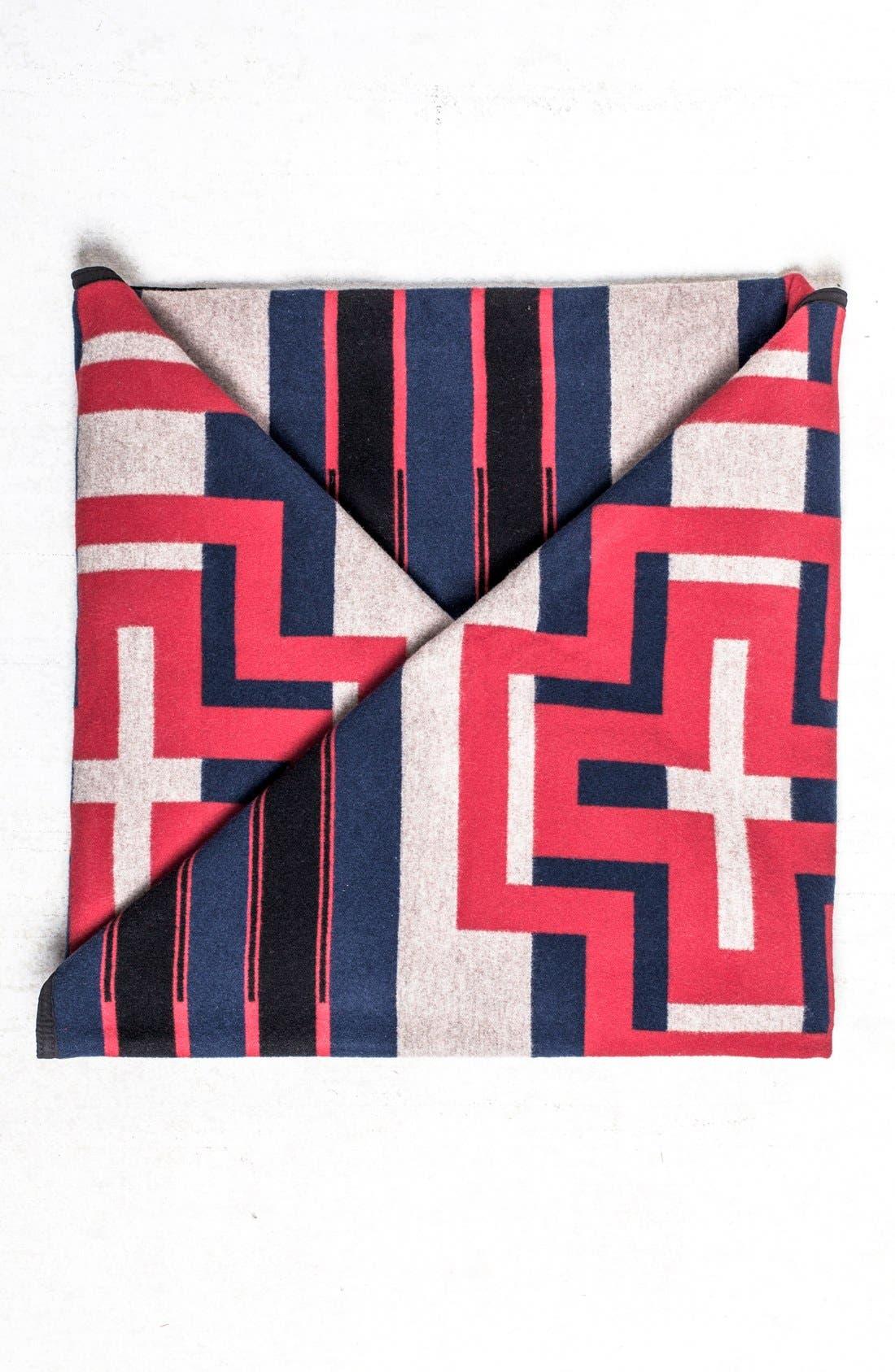 Main Image - Pendleton 'Compass Stripe' Queen Blanket
