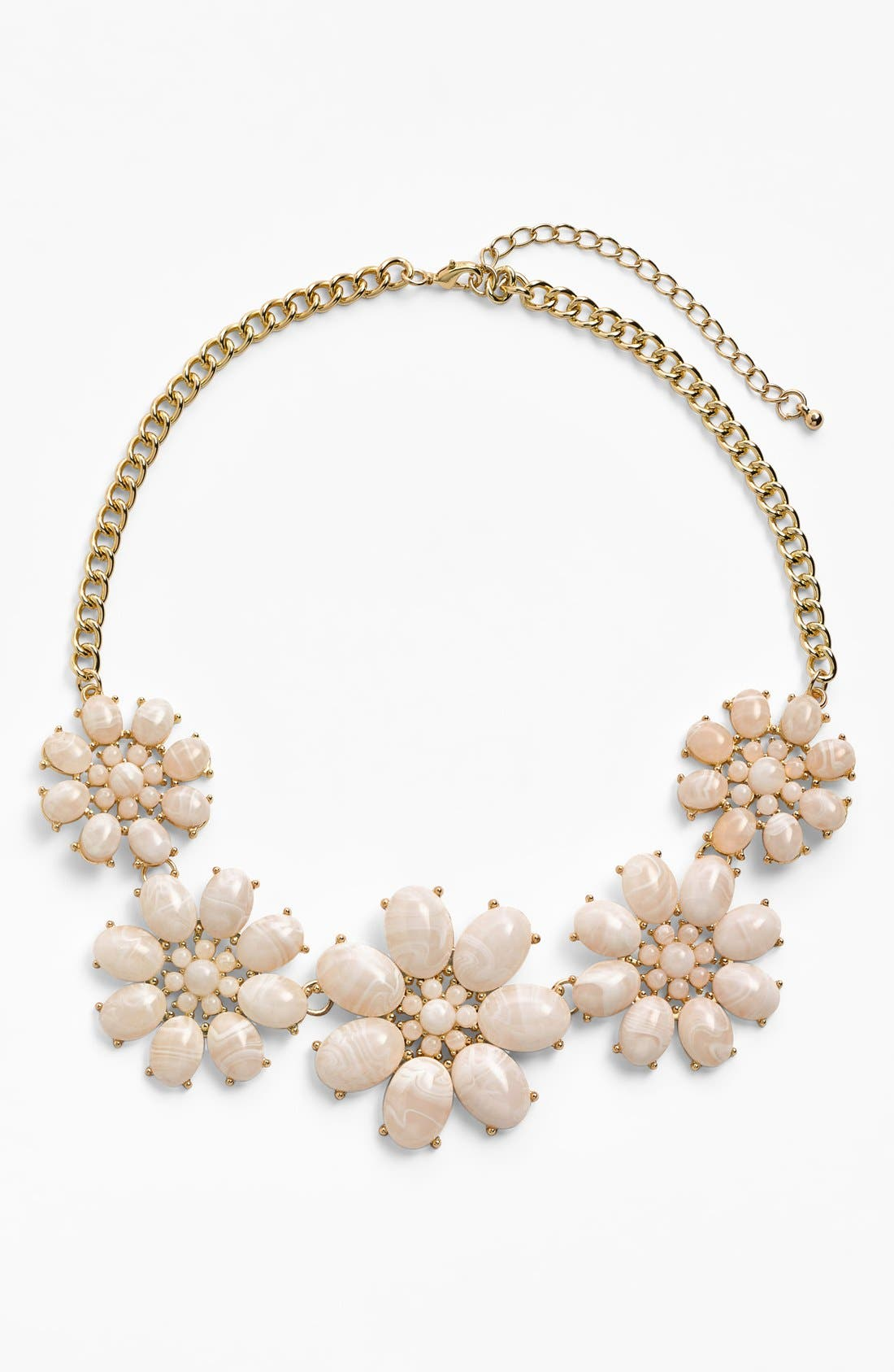 Alternate Image 1 Selected - Stephan & Co. Flower Statement Necklace (Juniors)