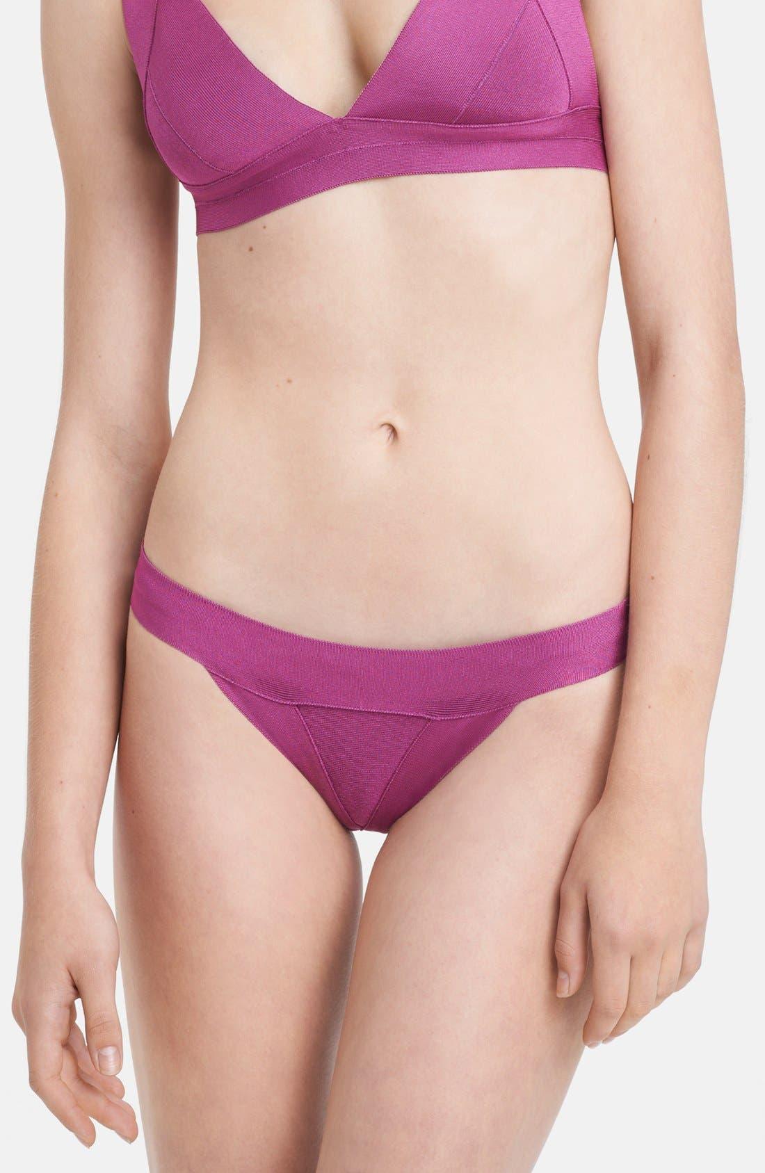 Alternate Image 4  - Herve Leger Cross Back Bandage Two-Piece Bikini