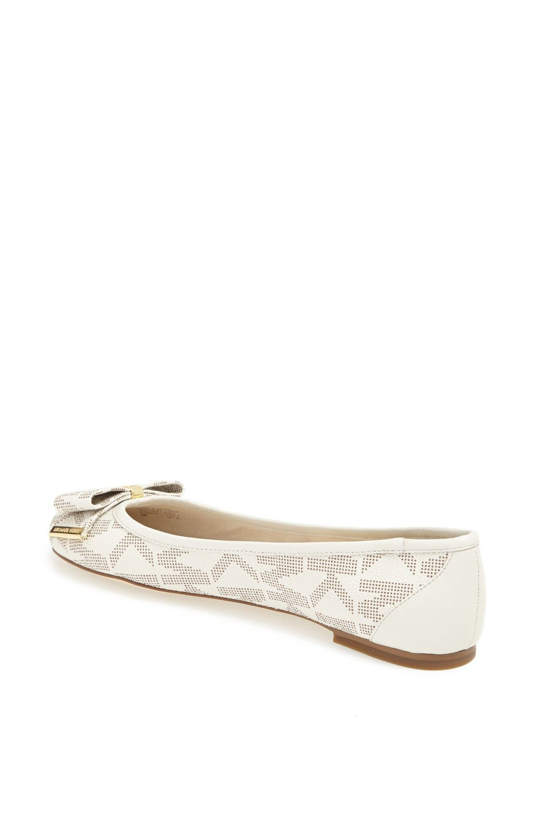 Alternate Image 2  - MICHAEL Michael Kors 'Kiera' Leather Ballet Flat