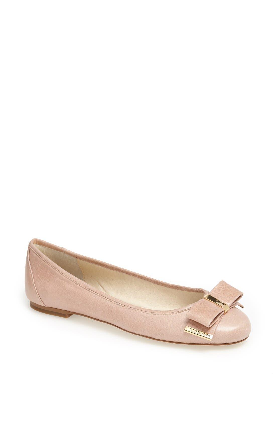 Main Image - MICHAEL Michael Kors 'Kiera' Leather Ballet Flat