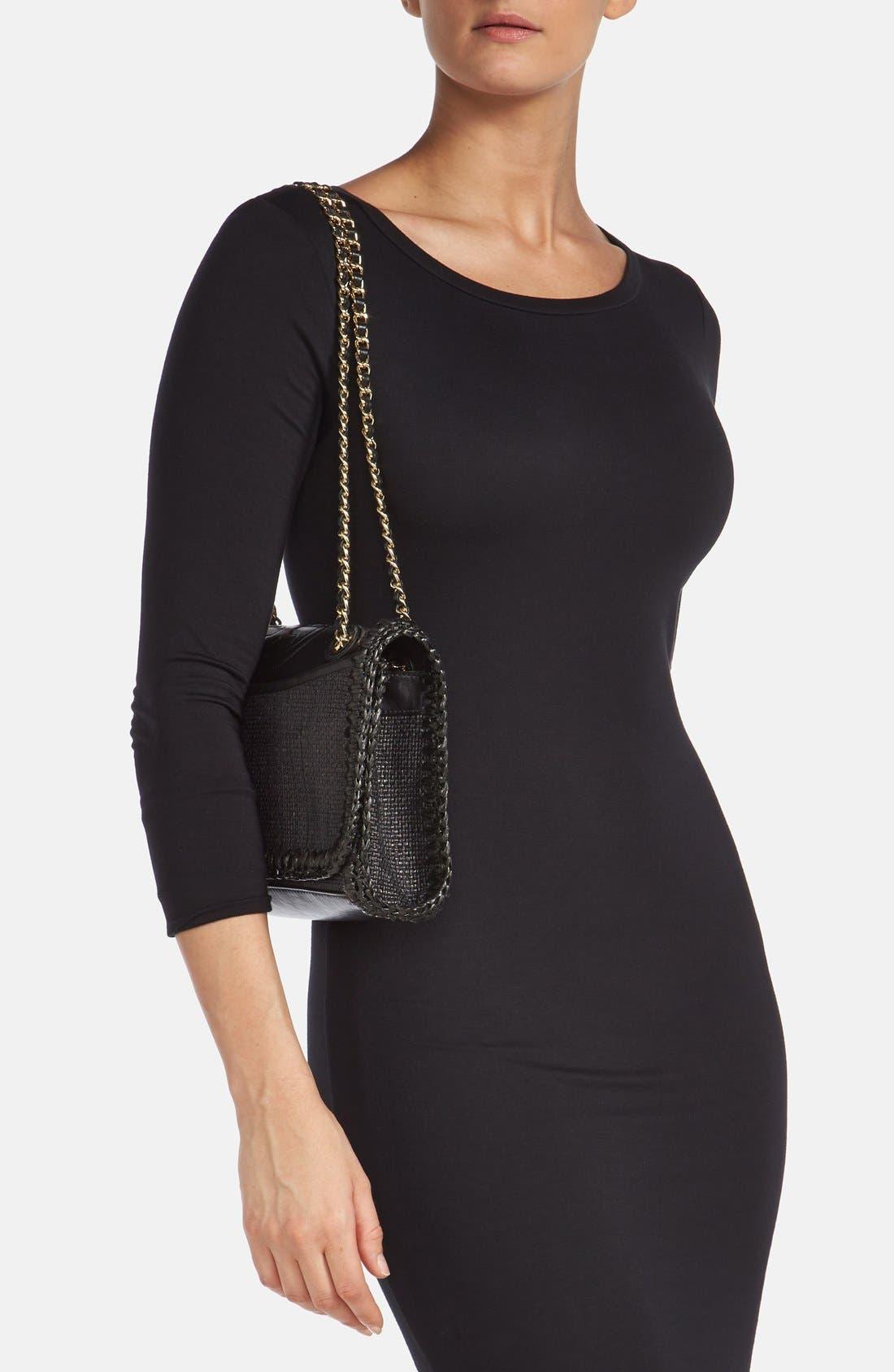 Alternate Image 2  - Tory Burch 'Medium Fleming' Woven Shoulder Bag