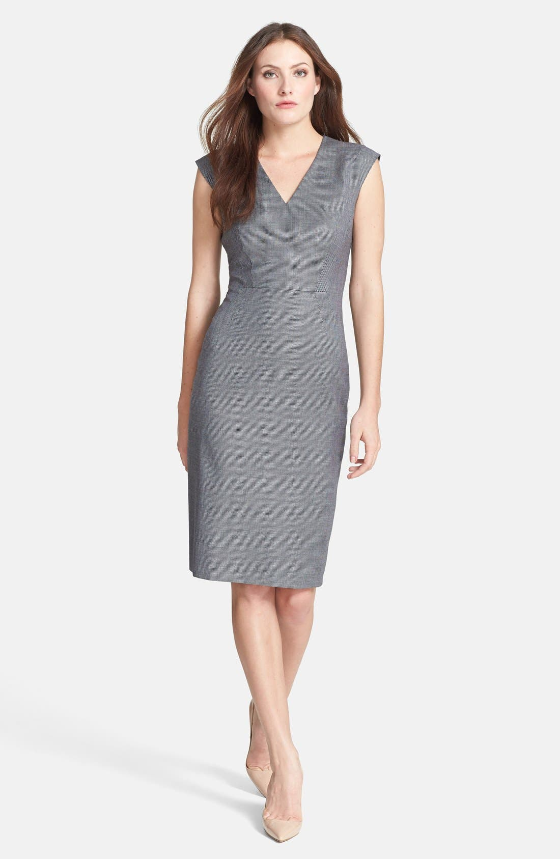 Alternate Image 1 Selected - BOSS 'Dalana' V-Neck Sheath Dress