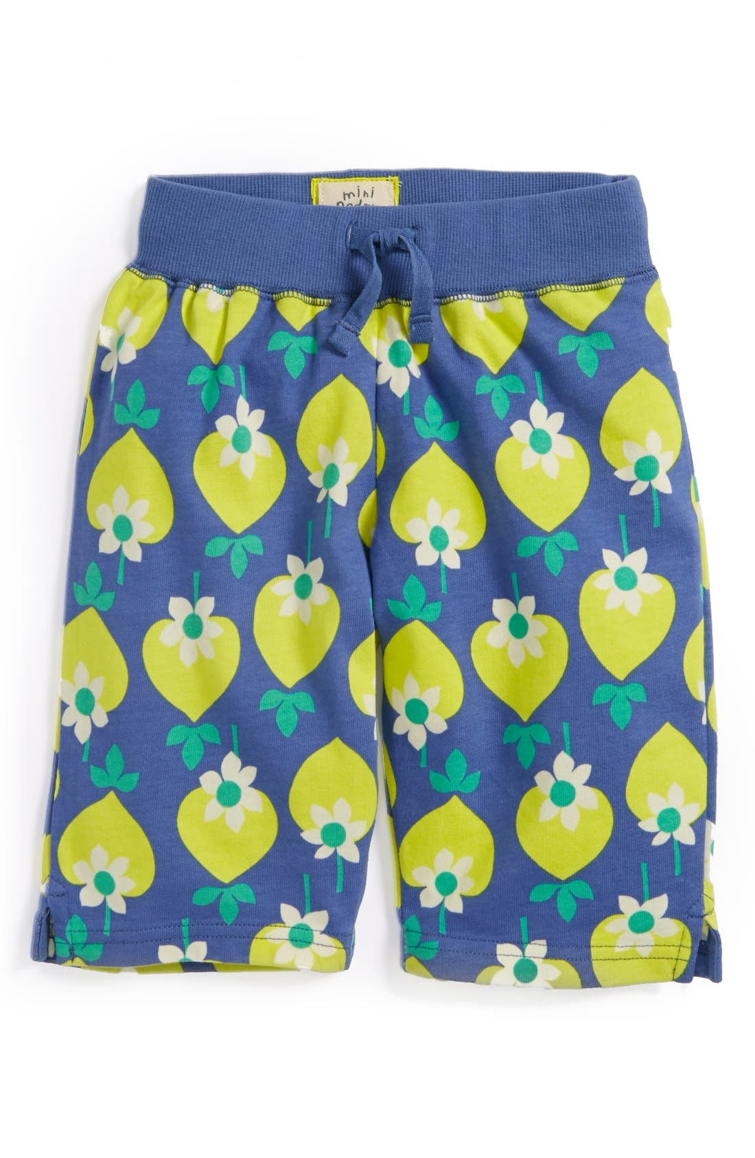 Main Image - Mini Boden Print Jersey Crop Pants (Toddler Girls)