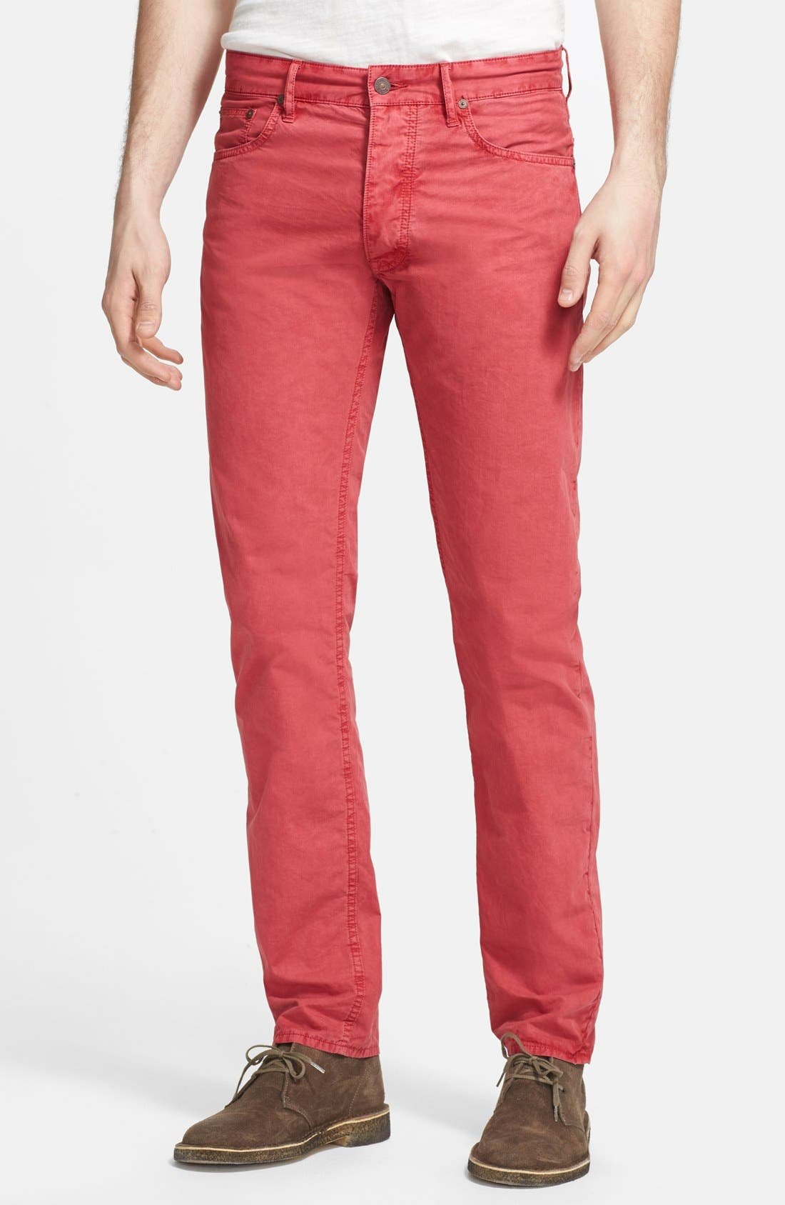 Main Image - Polo Ralph Lauren Slim Fit Poplin Pants (Nantucket Red)
