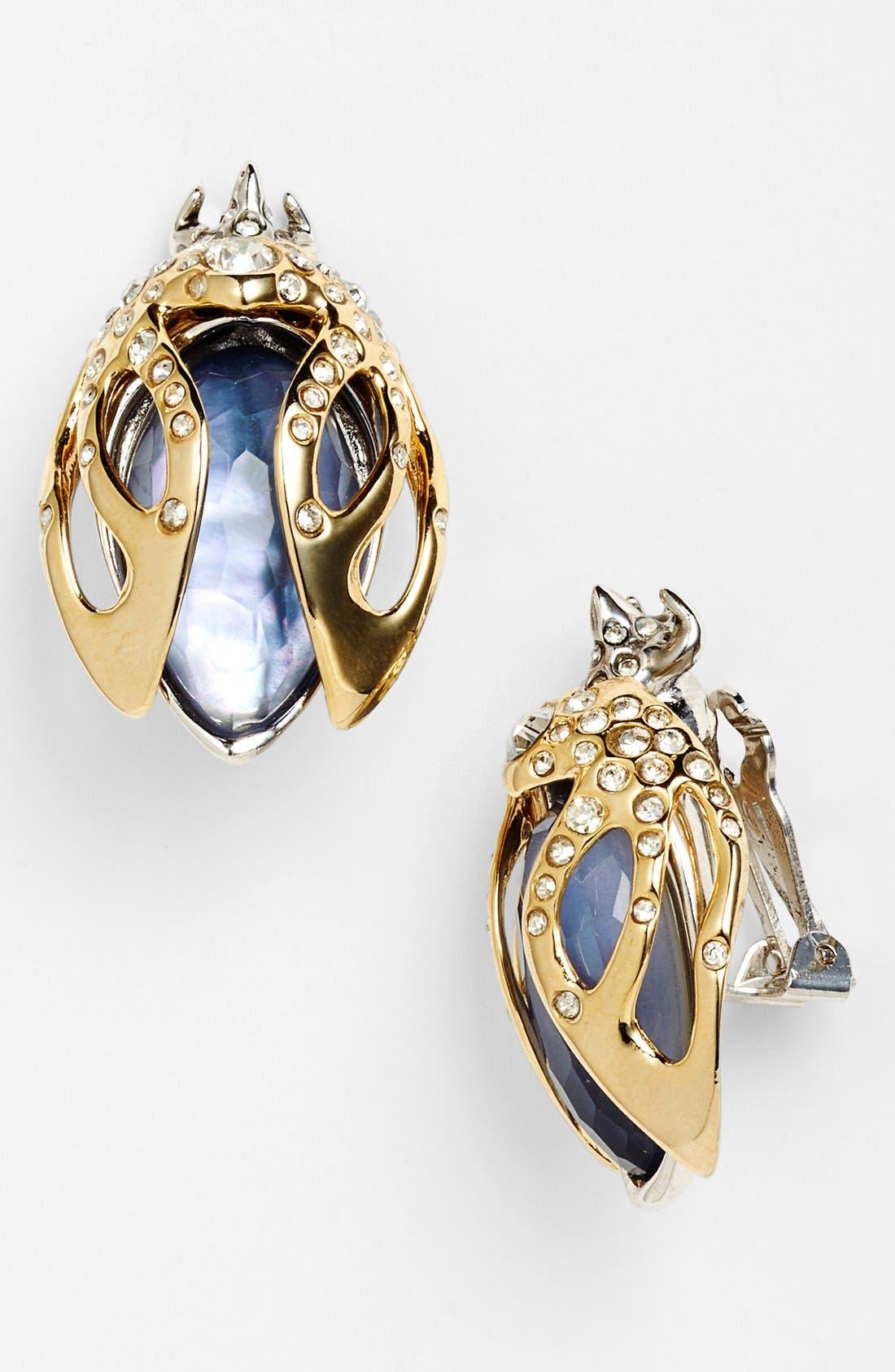 Main Image - Alexis Bittar 'Jardin Mystère' Beetle Clip Earrings