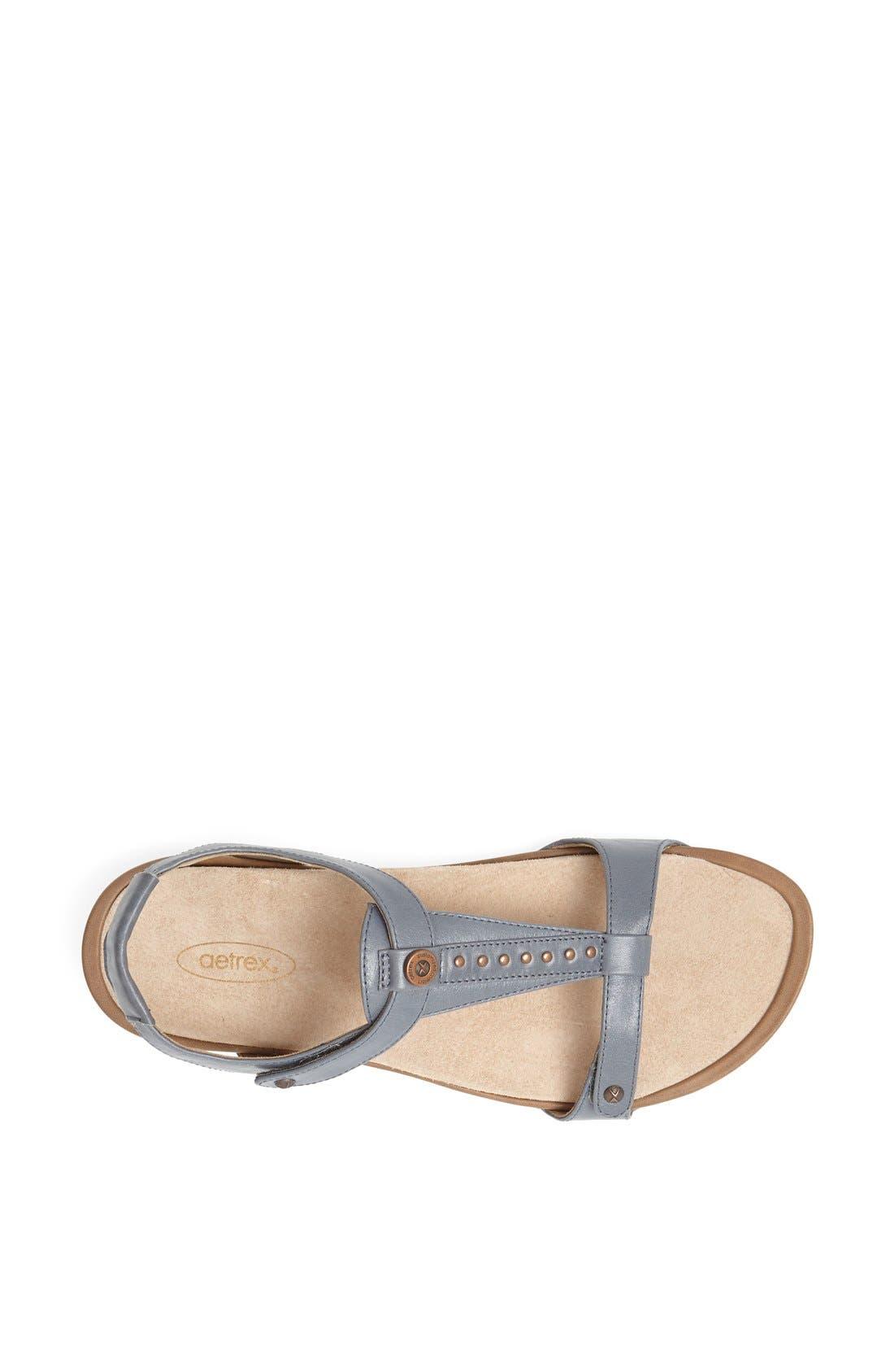 Alternate Image 3  - Aetrex 'Alyssa' Leather Sandal