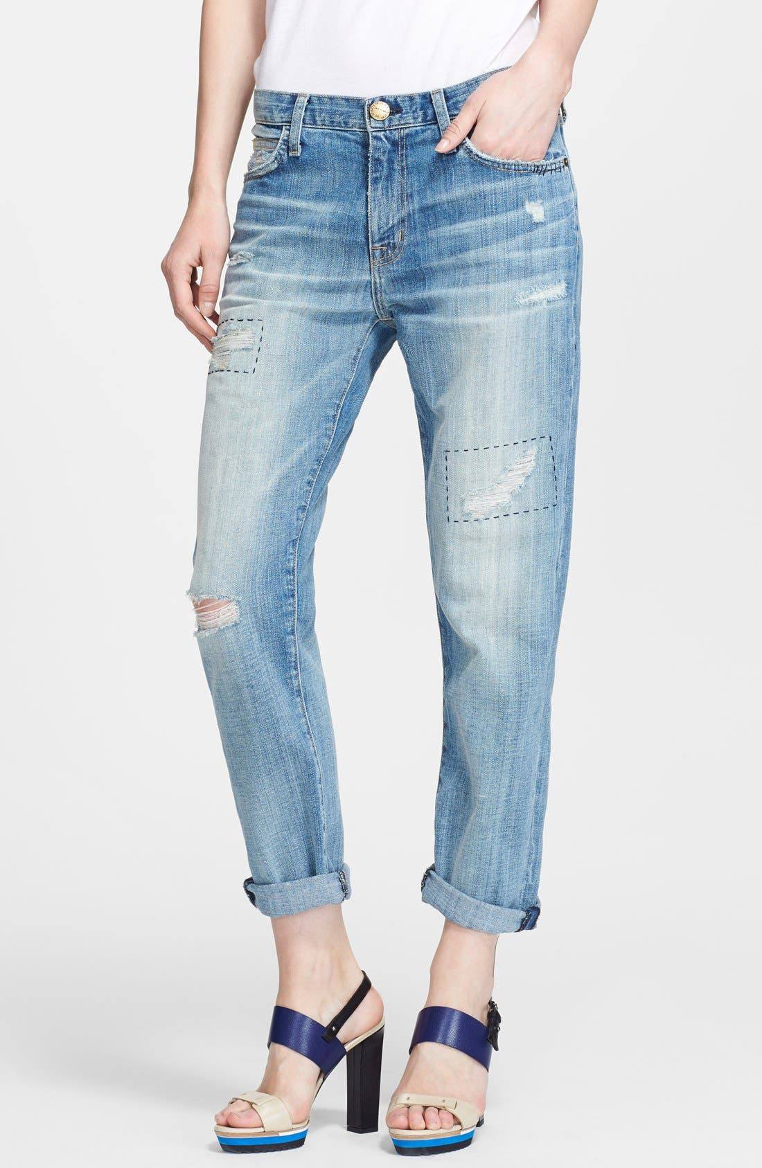 Alternate Image 1 Selected - Current/Elliott 'The Fling' Rolled Jeans (Buckeye Repair)