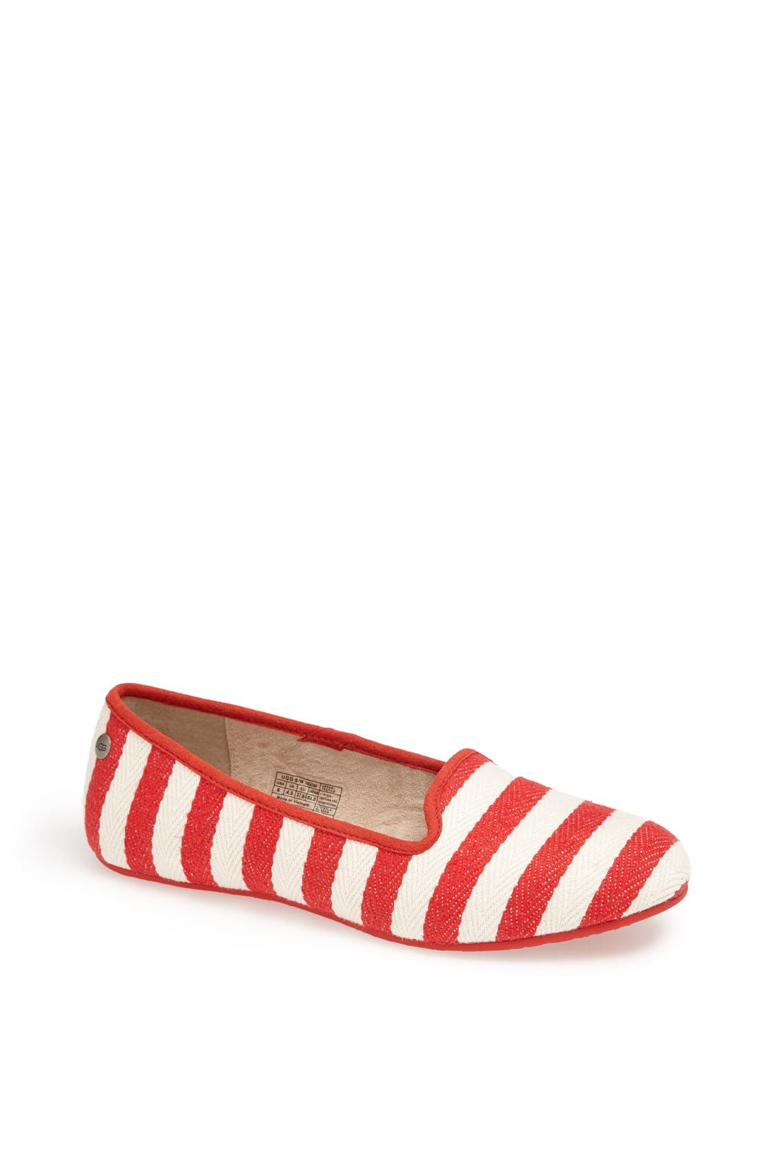 Alternate Image 1 Selected - UGG® Australia 'Alloway Stripe' Flat (Women)