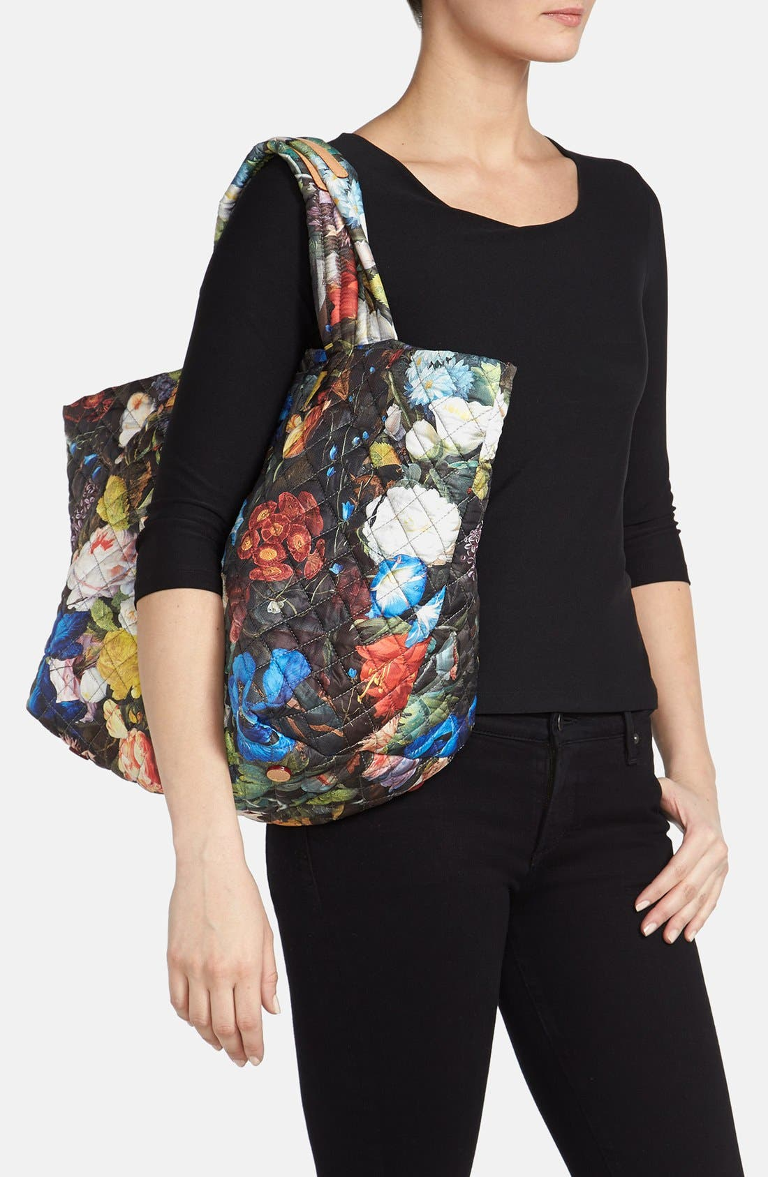 Alternate Image 2  - MZ Wallace 'Medium Floral Oxford - Metro' Quilted Tote (Nordstrom Exclusive)