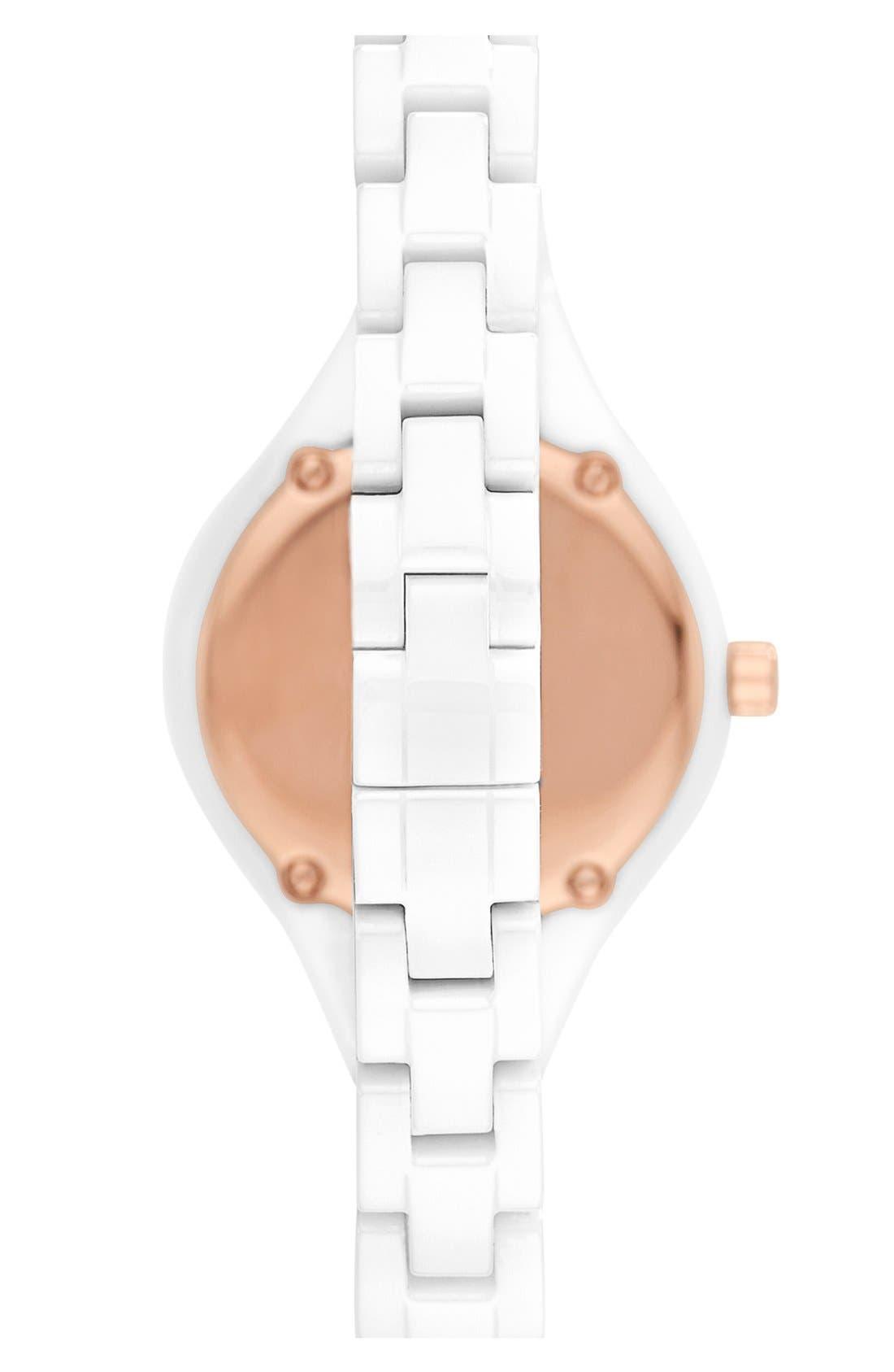 Alternate Image 2  - Emporio Armani Ceramic Bracelet Watch, 26mm
