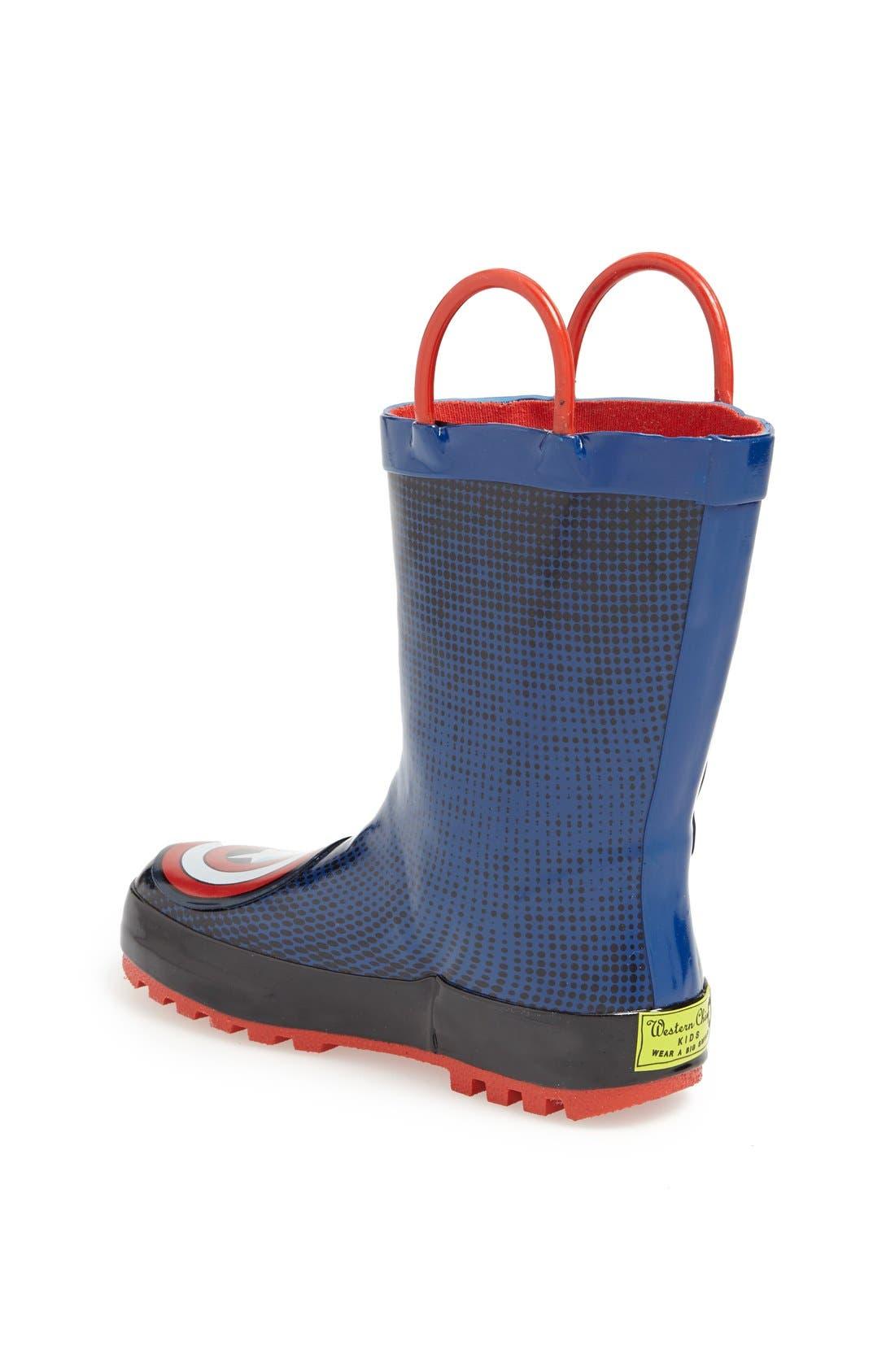 Alternate Image 2  - Western Chief 'Captain America™' Rain Boot (Toddler)