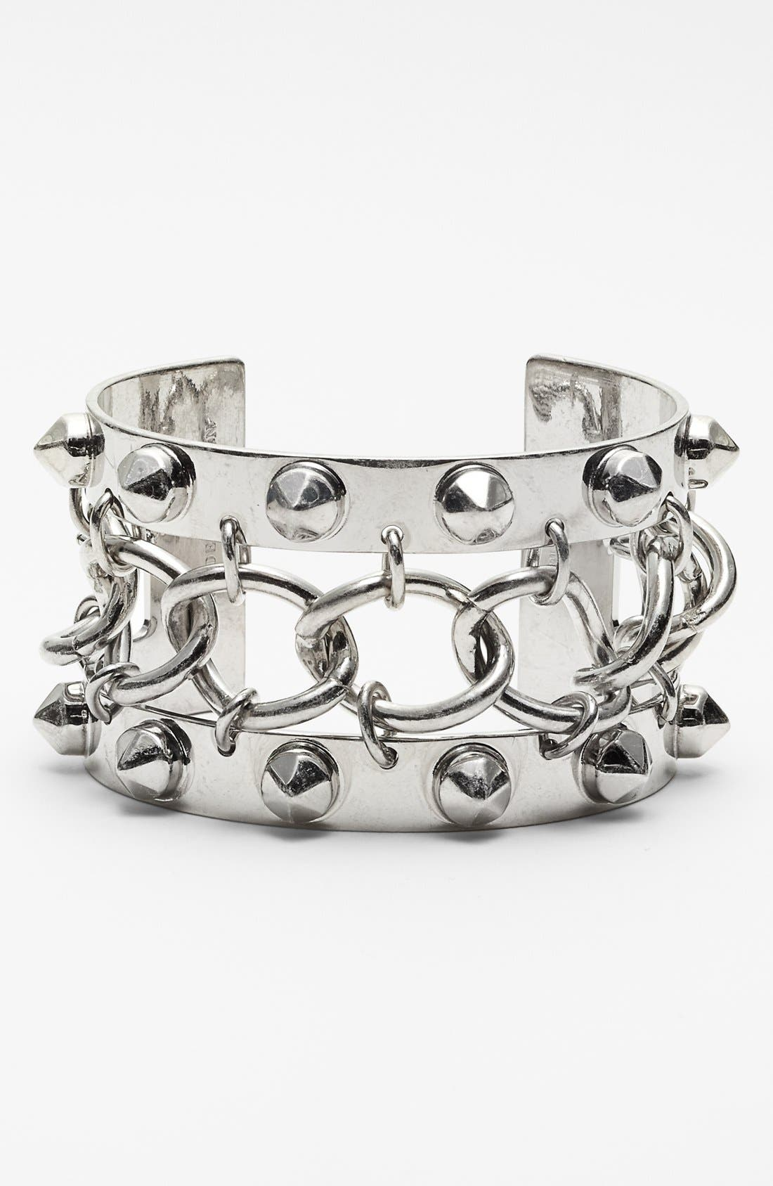 Alternate Image 1 Selected - Alexander McQueen Studded Open Cuff