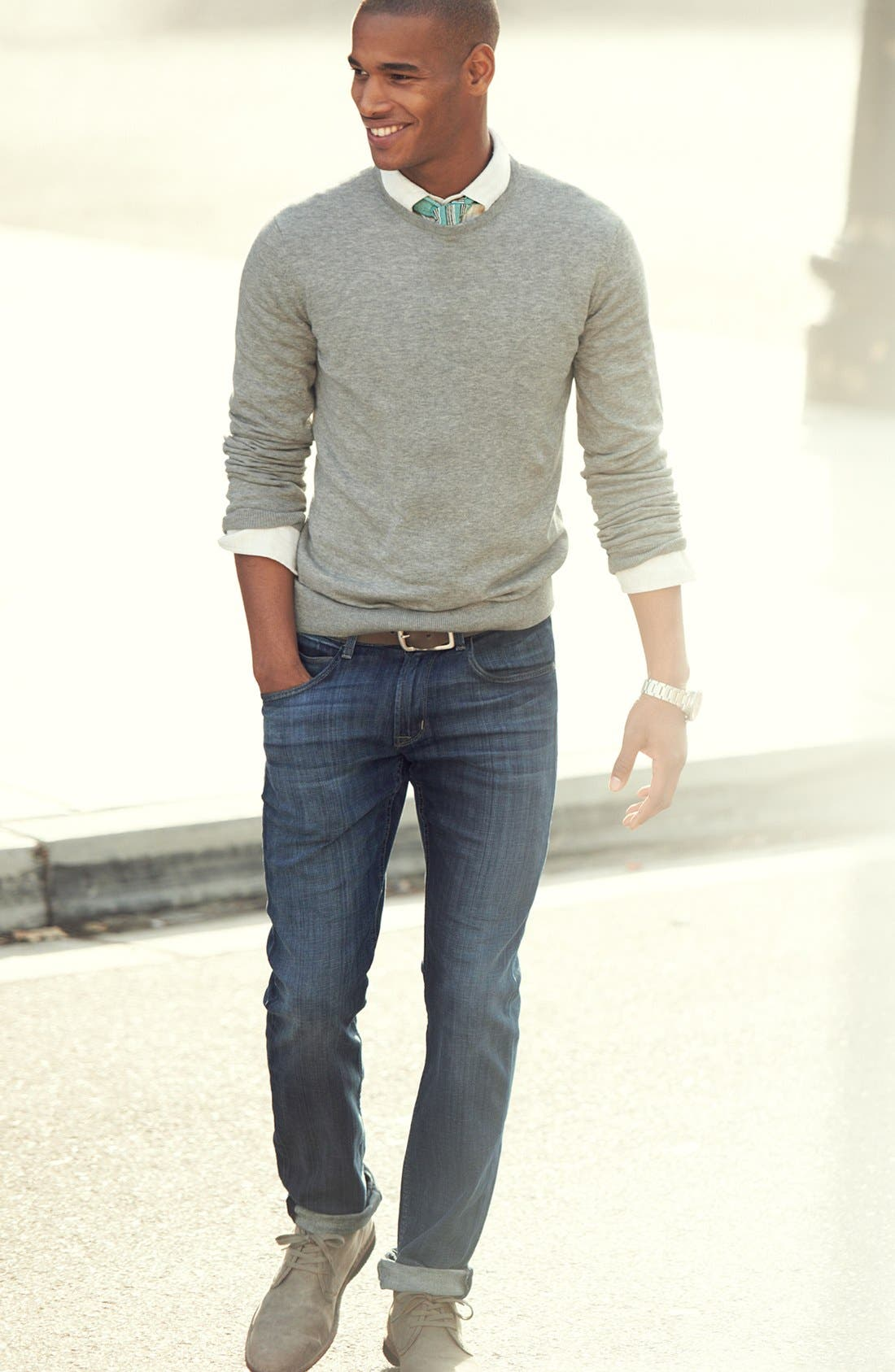 Alternate Image 5  - Hudson Jeans 'Byron' Slim Straight Leg Jeans (Harris)